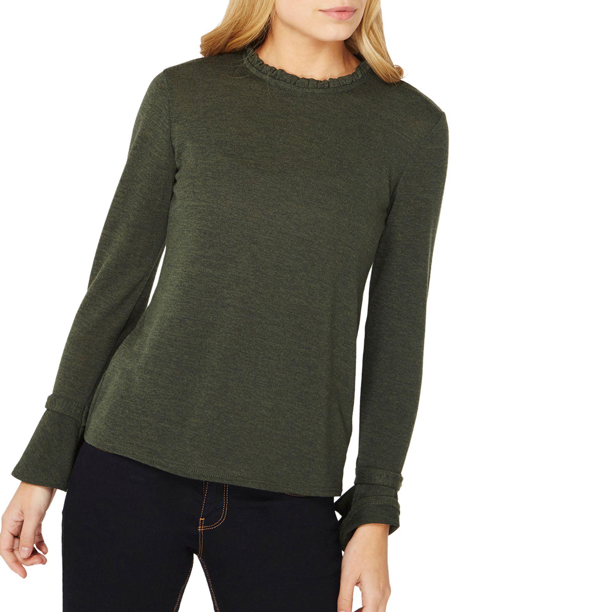 Green Dorothy In Crust Tie Top Sleeves Perkins Khaki Pie Lyst rqgw8Zr