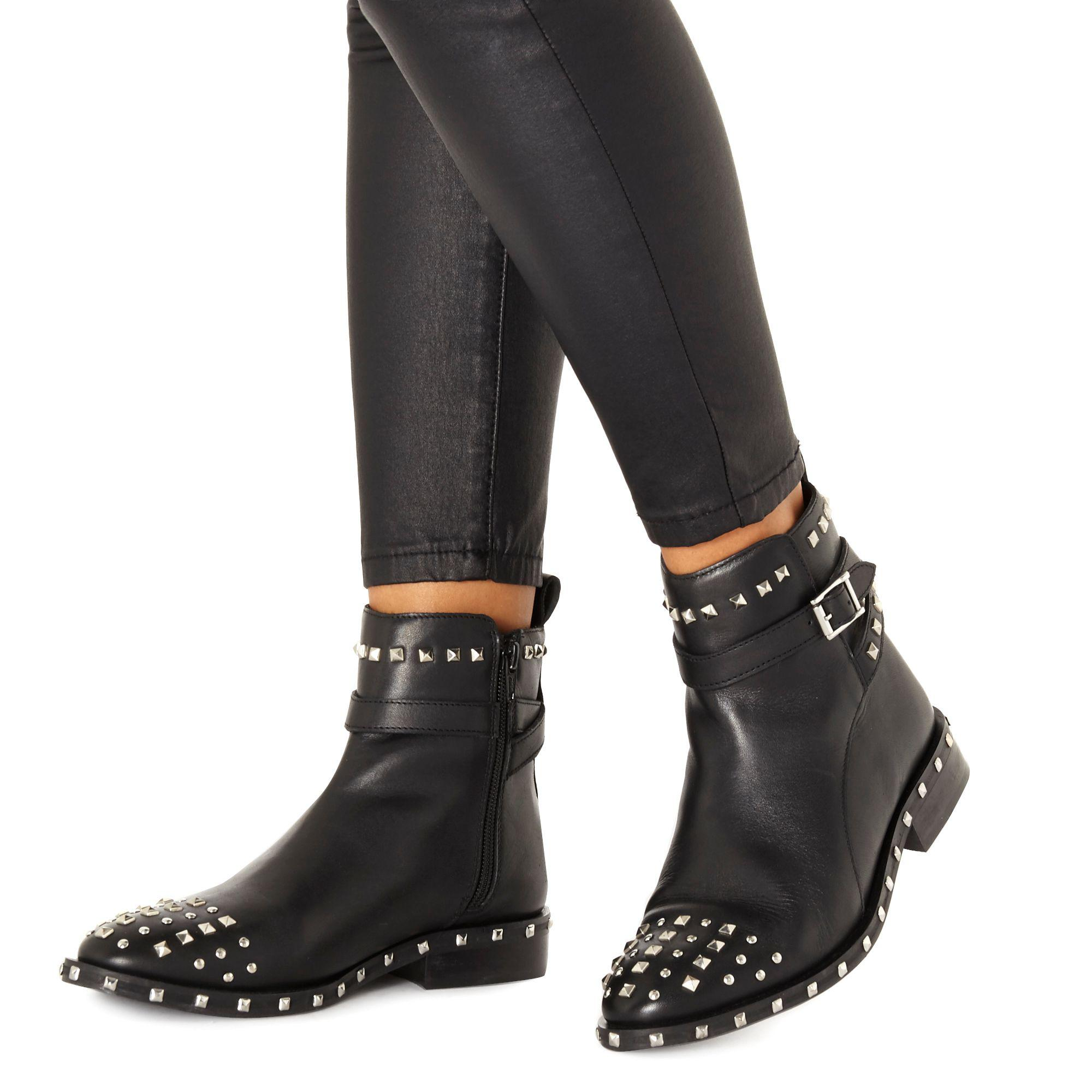 a376a6cf87e Faith Black Leather  bez  Ankle Boots in Black - Lyst