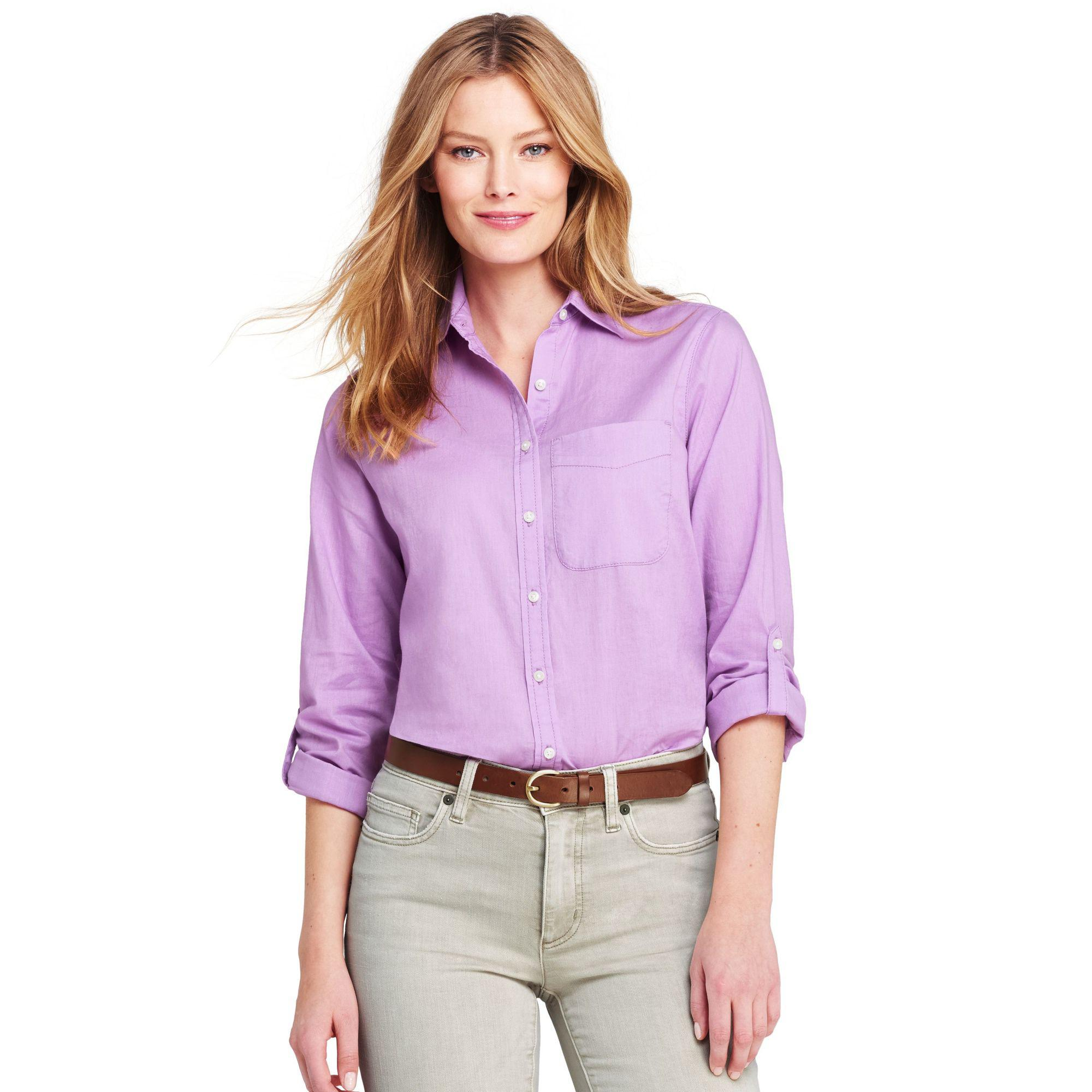 Cheap Sale Release Dates Discount Outlet Locations Womens Regular Cotton/Modal Sleep Tee - 10 -12 - PURPLE Lands End Up To Date Manchester Great Sale For Sale Discount Cheap 7gtdqDJ