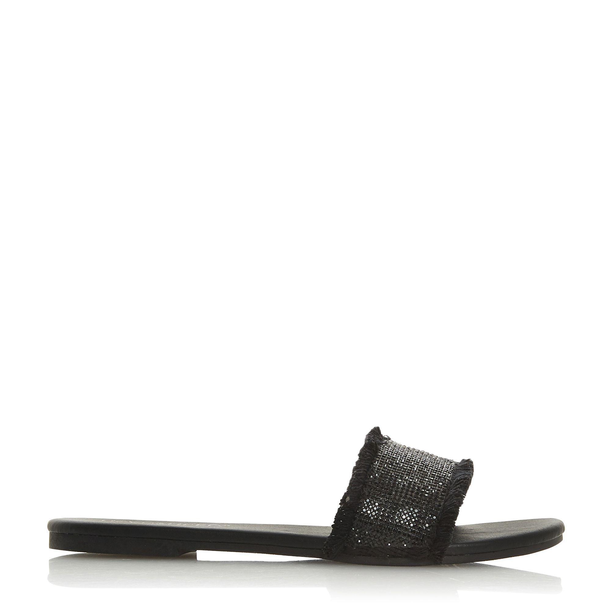 84cc589af2e Dune Black 'ladyy' Mule Slippers in Black - Lyst