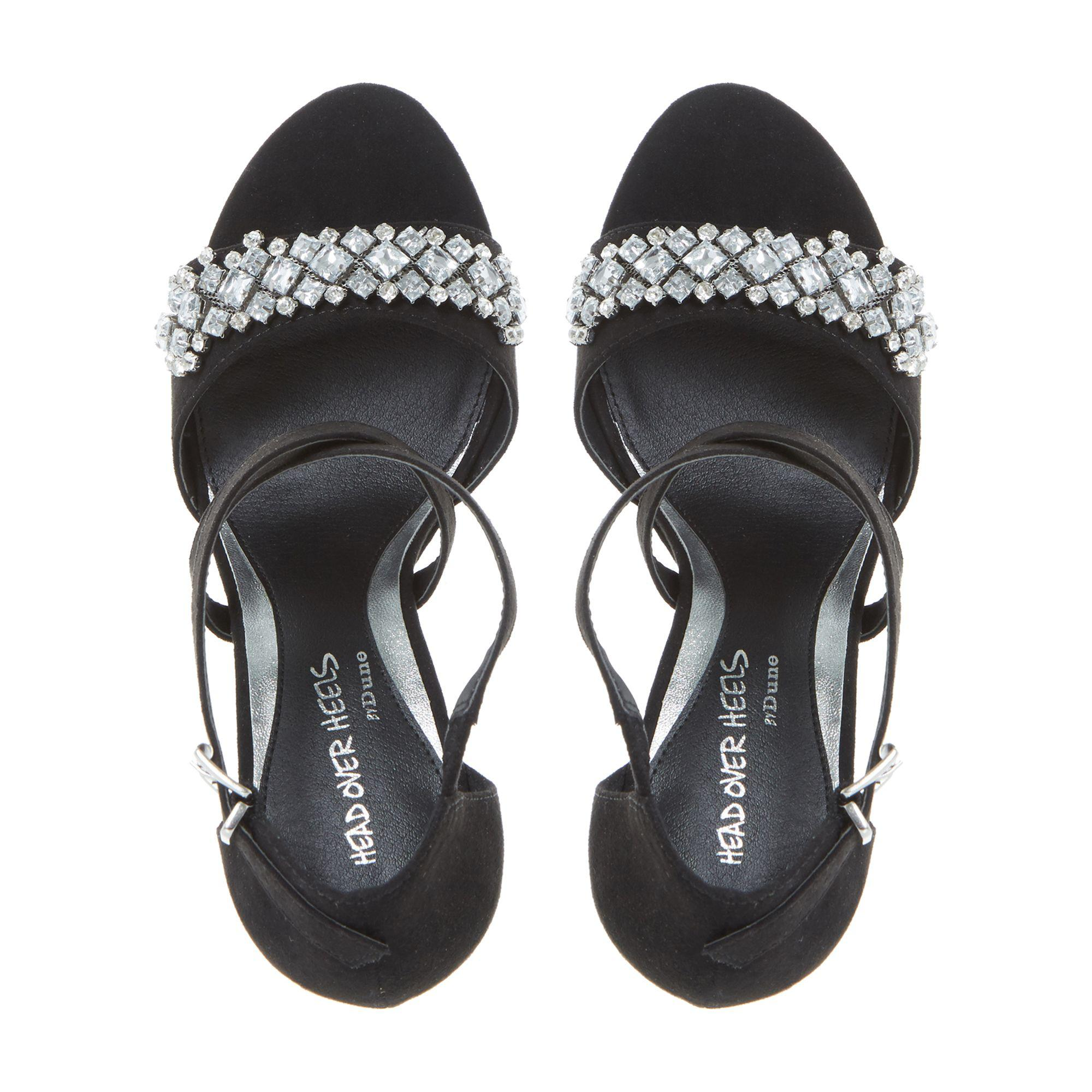 8cc7db853ad4f7 Dune Black  maisy  Jewelled Strap High Heeled Sandals in Black - Lyst