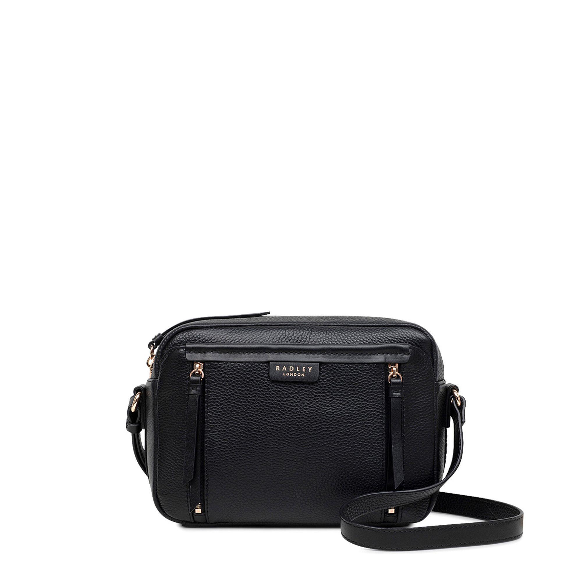 ffe5a941b6af Radley Black Leather  penhurst Zip  Medium Crossbody Bag in Black - Lyst
