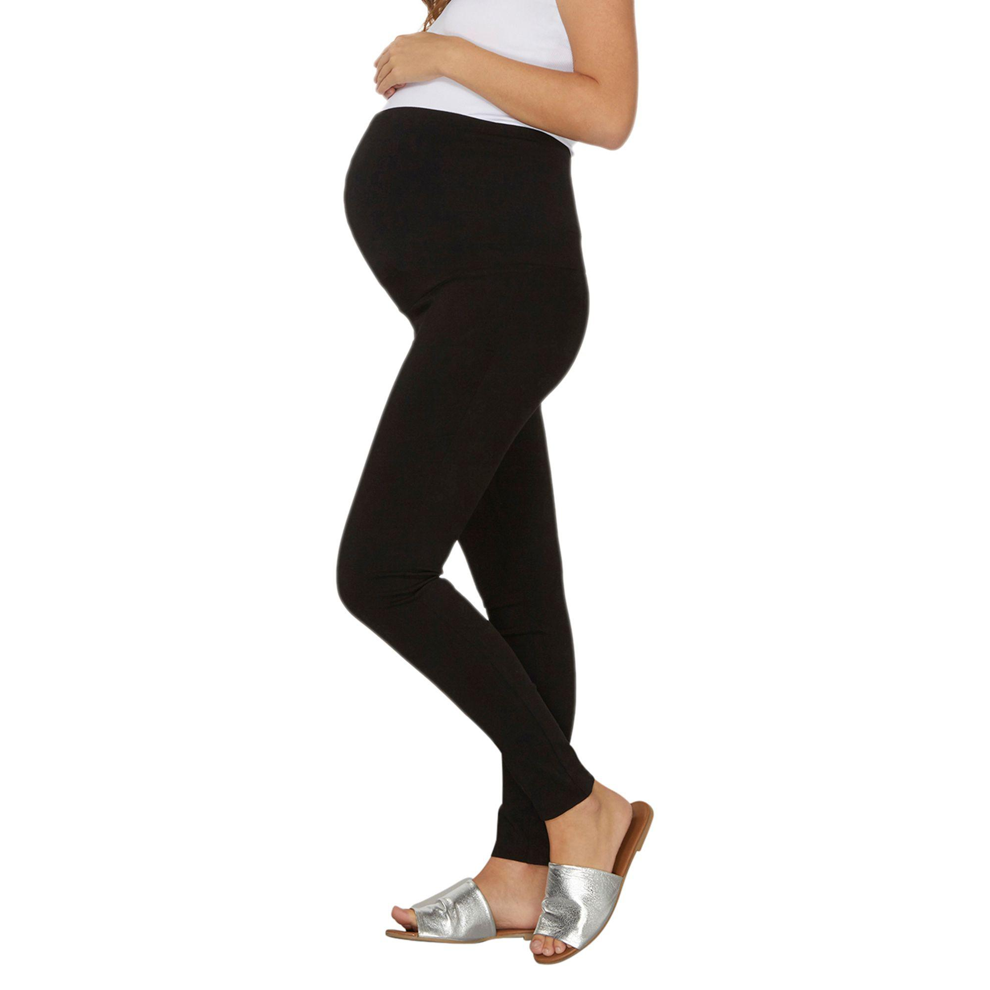 7fd7b5ff317132 Dorothy Perkins Maternity Over Bump Bengaline Trousers in Black - Lyst
