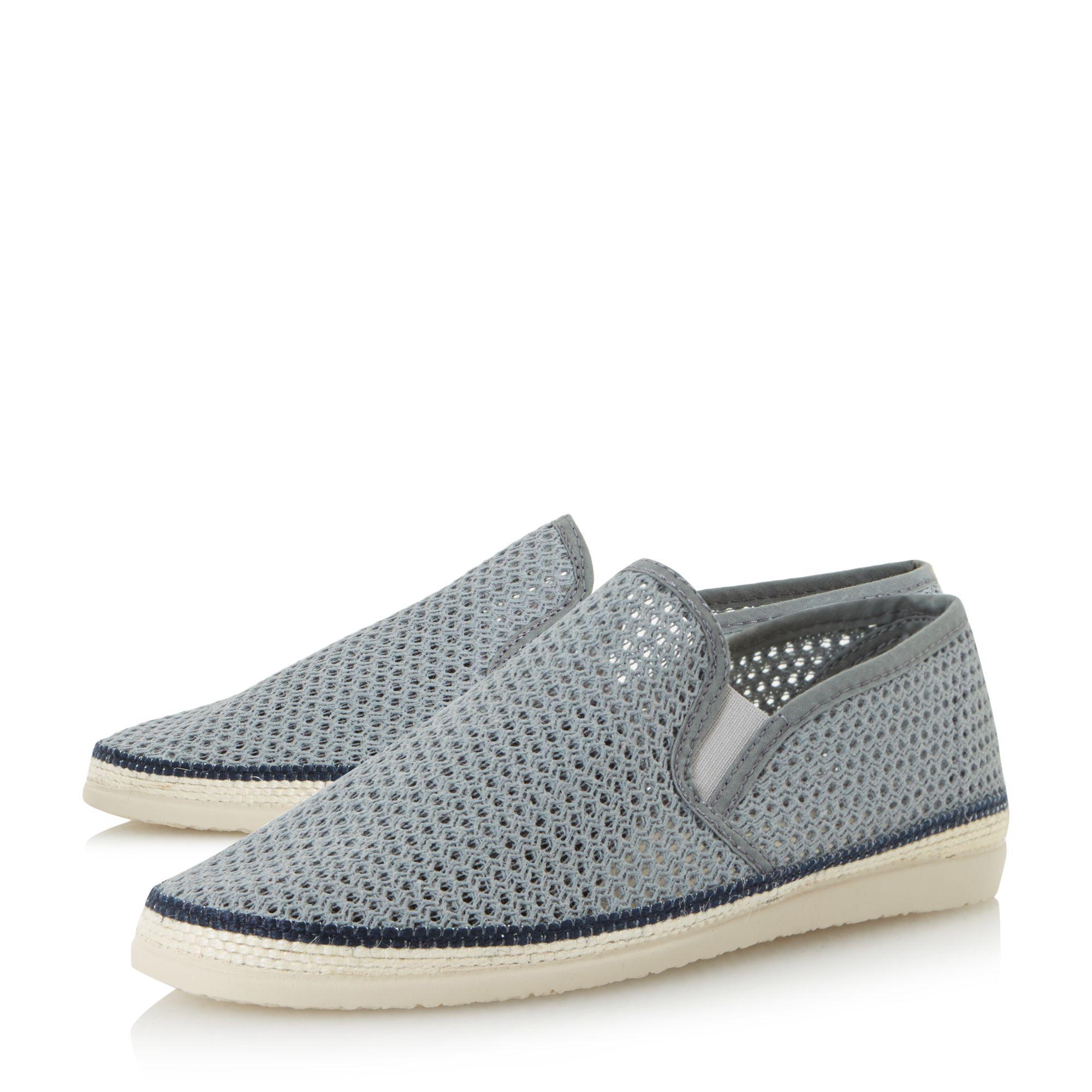 afda99b08 Bertie - Gray Grey 'fresh' Mesh Detail Espadrille Shoes for Men - Lyst.  View fullscreen