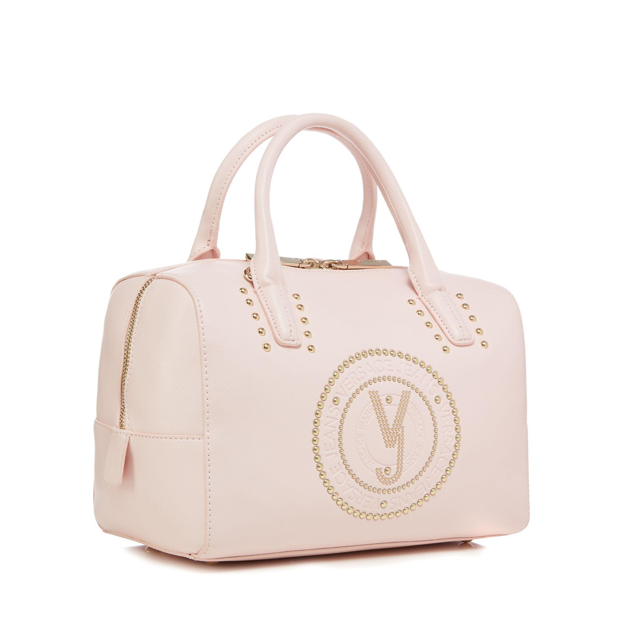 7516d0f7702 Versace Jeans - Light Pink Embossed Bowler Bag - Lyst. View fullscreen  brand new 53abe ...