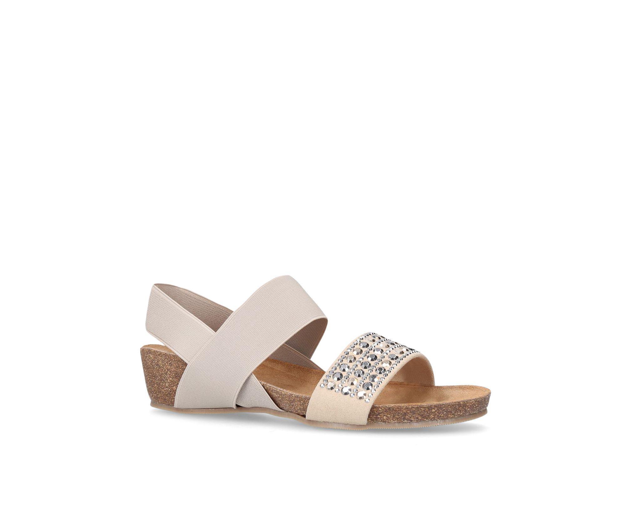 a678eae4571 Carvela Kurt Geiger Taupe  sink  Mid Heel Wedge Sandals in Brown - Lyst