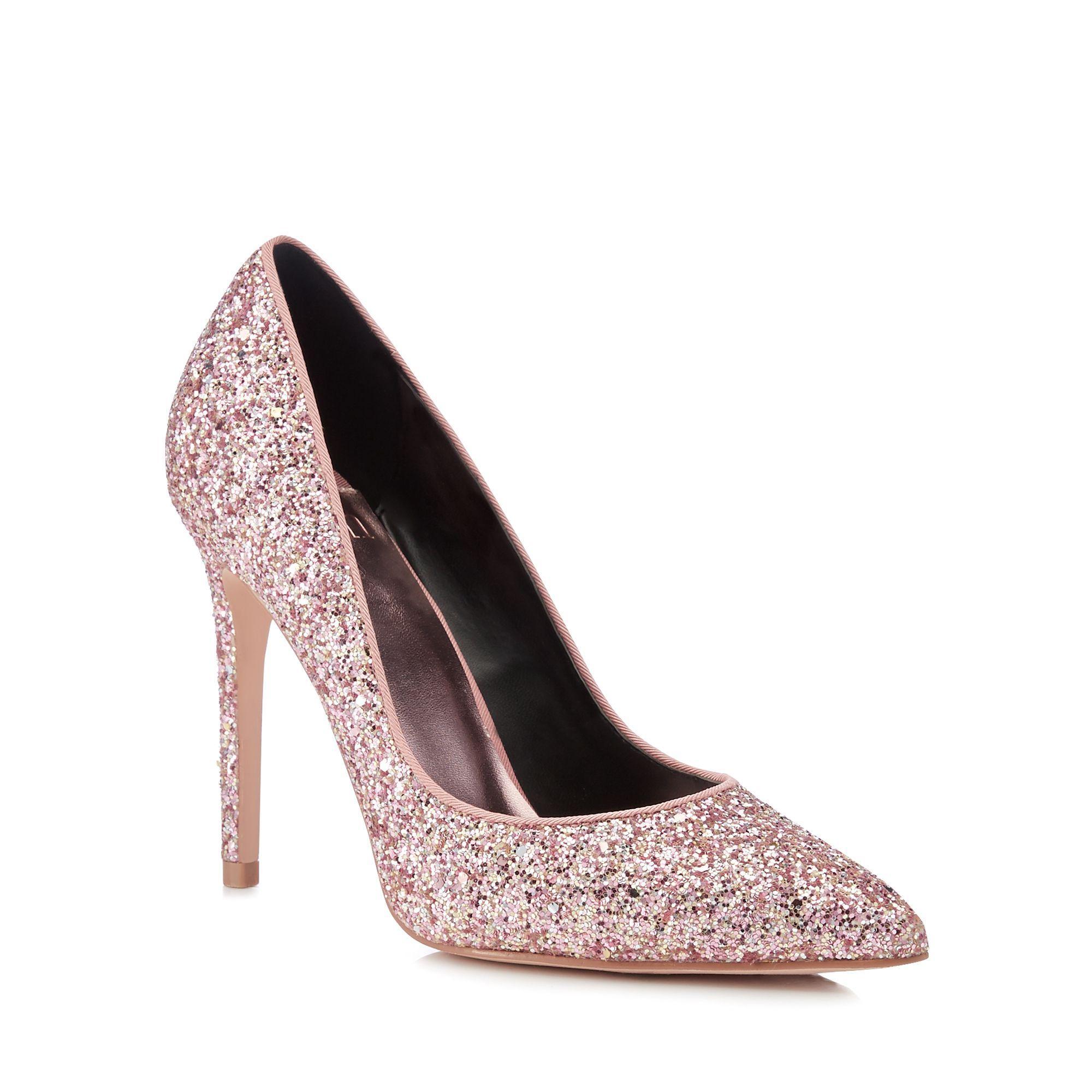 252ca3cef Faith - Pink Glitter  chloe  Stiletto Heel Pointed Toe Court Shoes - Lyst.  View fullscreen