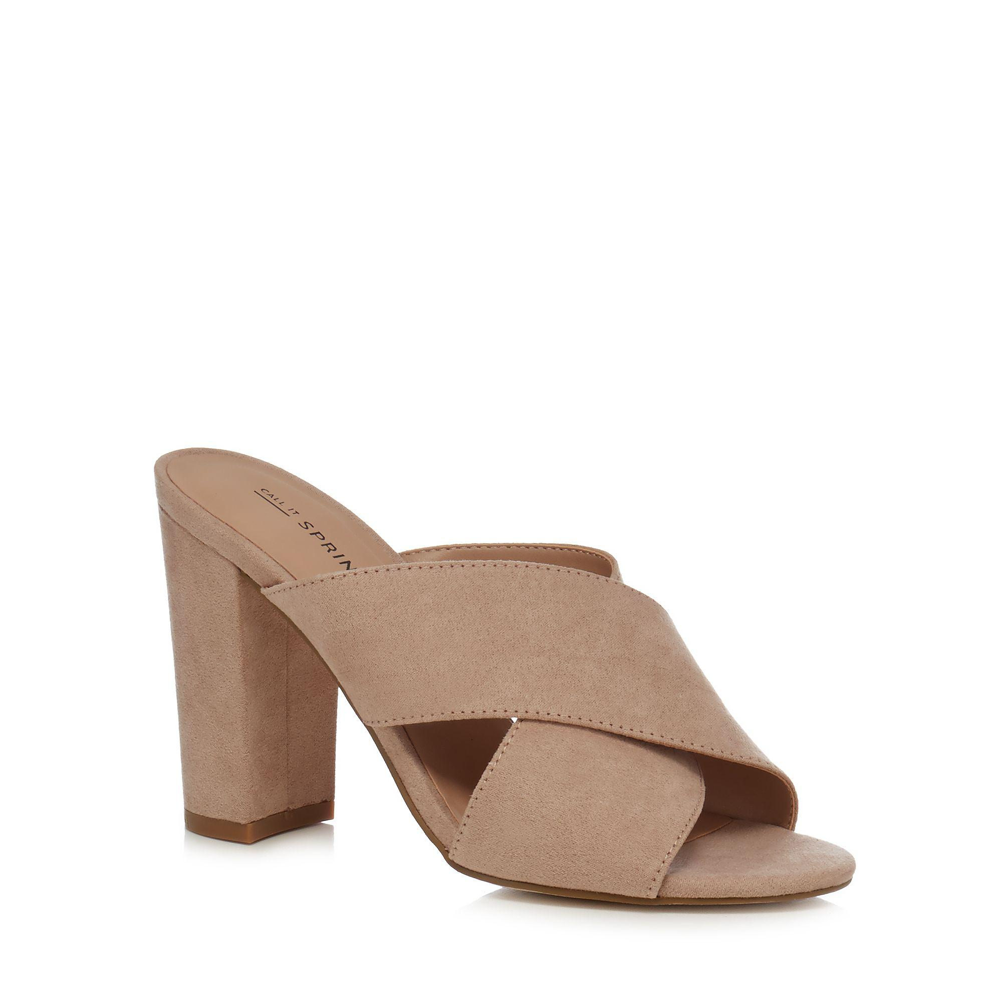 61160350fe3d Call It Spring Light Pink  forland  High Block Heel Mule Sandals in ...