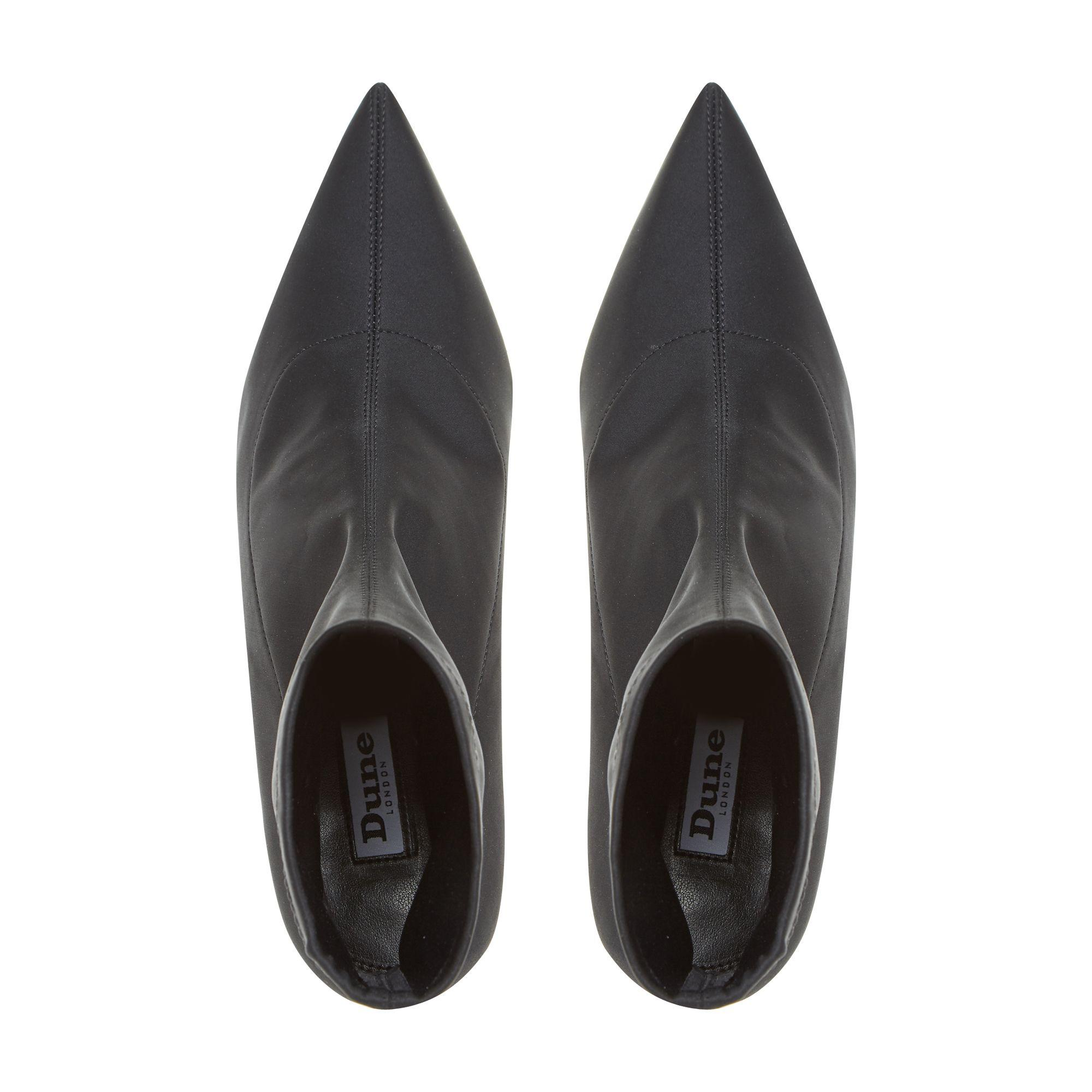 fa0091a1b500d Dune Black 'opelli' Stretch Kitten Heel Ankle Boots in Black - Lyst