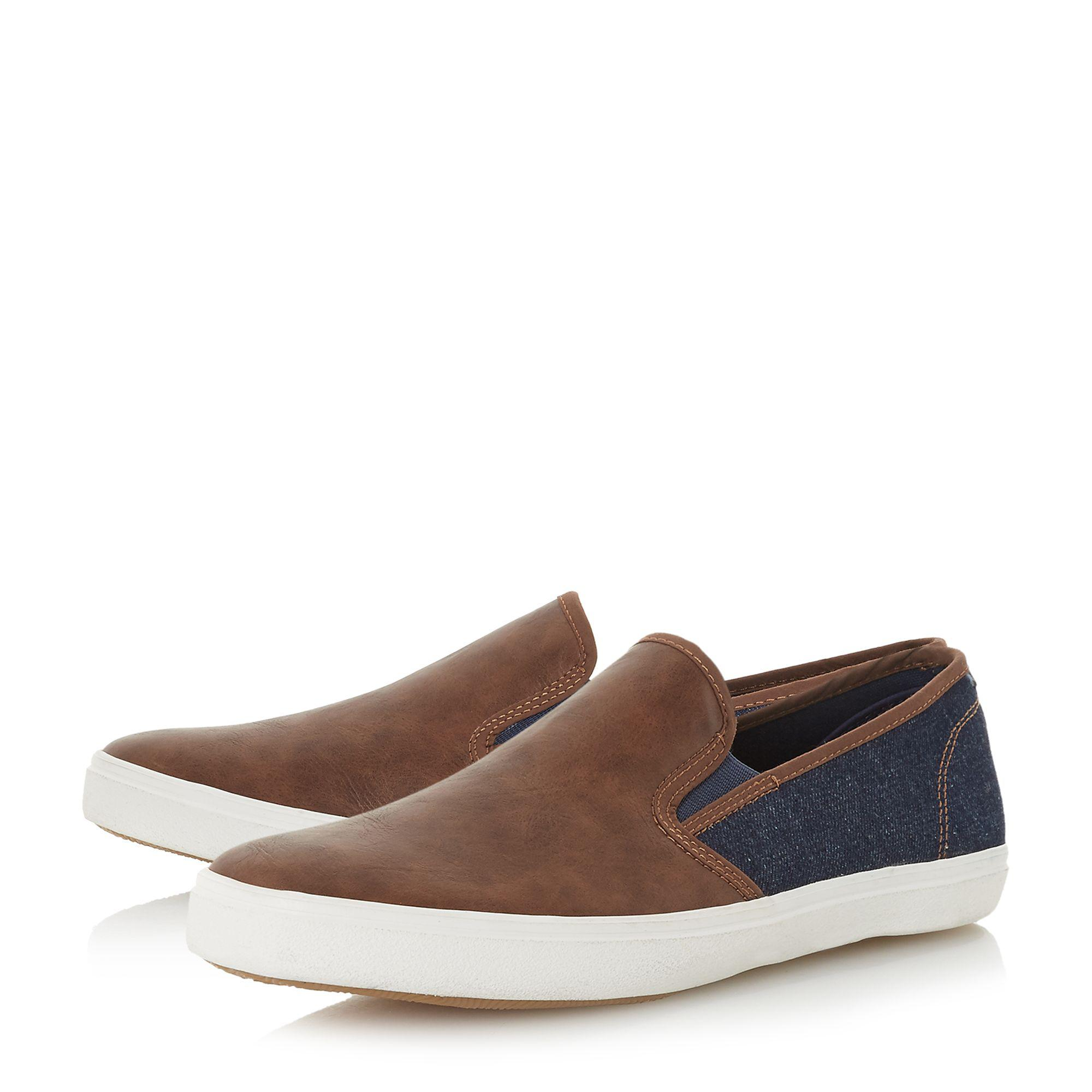 Navy 'Thierry' canvas contrast slip on trainers top quality cheap online free shipping 2015 clearance fashion Style DVVvxLjGj