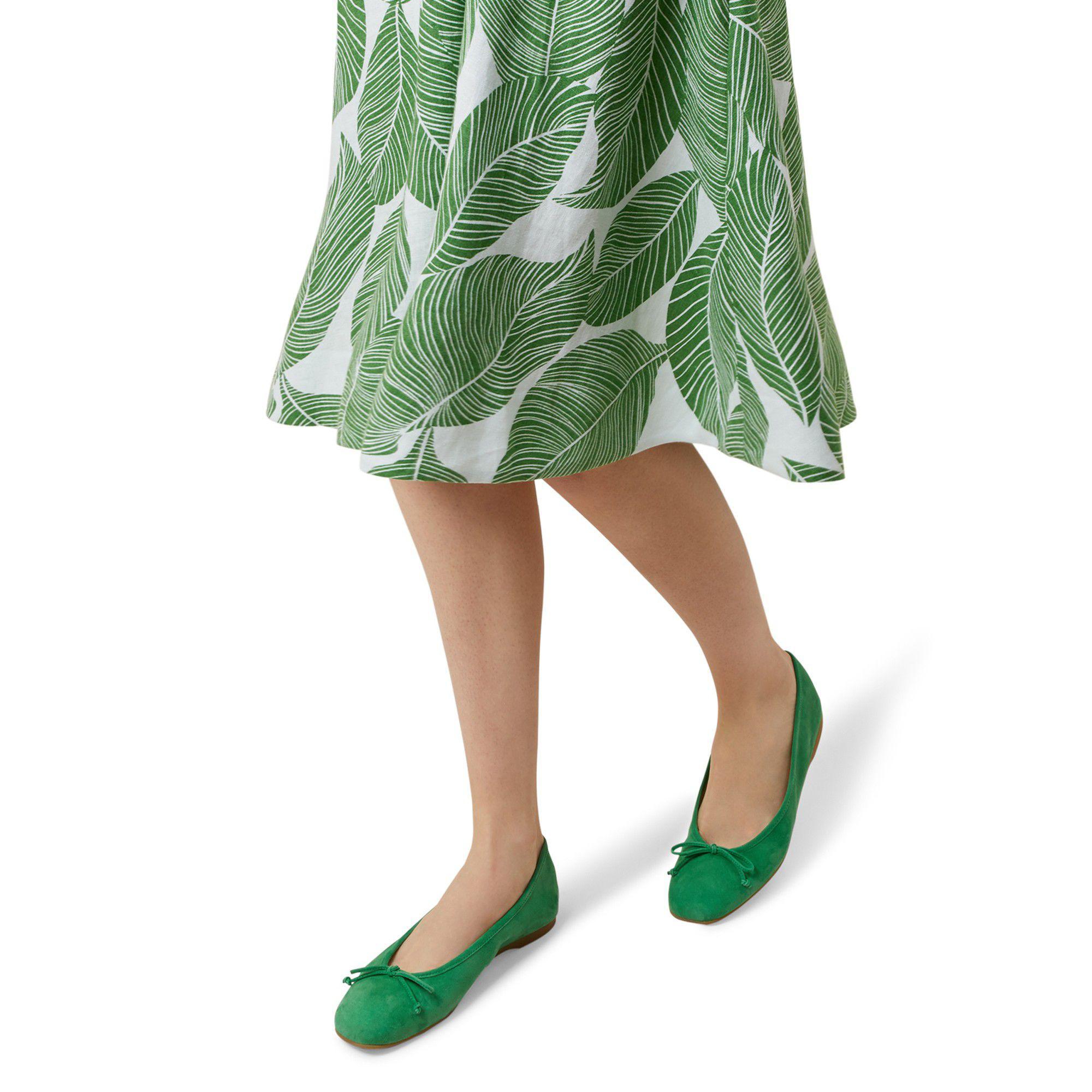 d72011f15bf Hobbs - Bright Green  prior  Ballerina Shoes - Lyst. View fullscreen