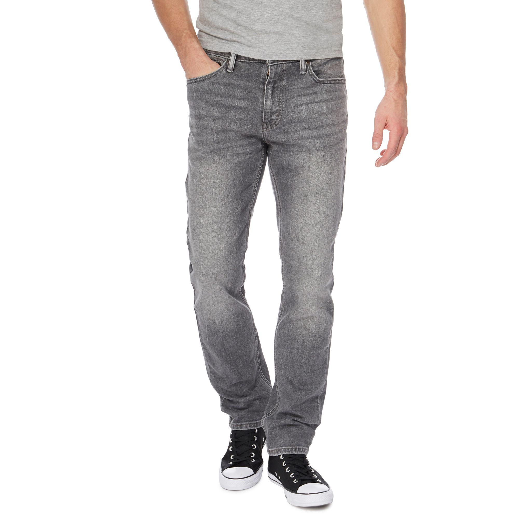 eb993625 Levi S Grey Mid Wash 511 Slim Jeans In Gray For Men Lyst
