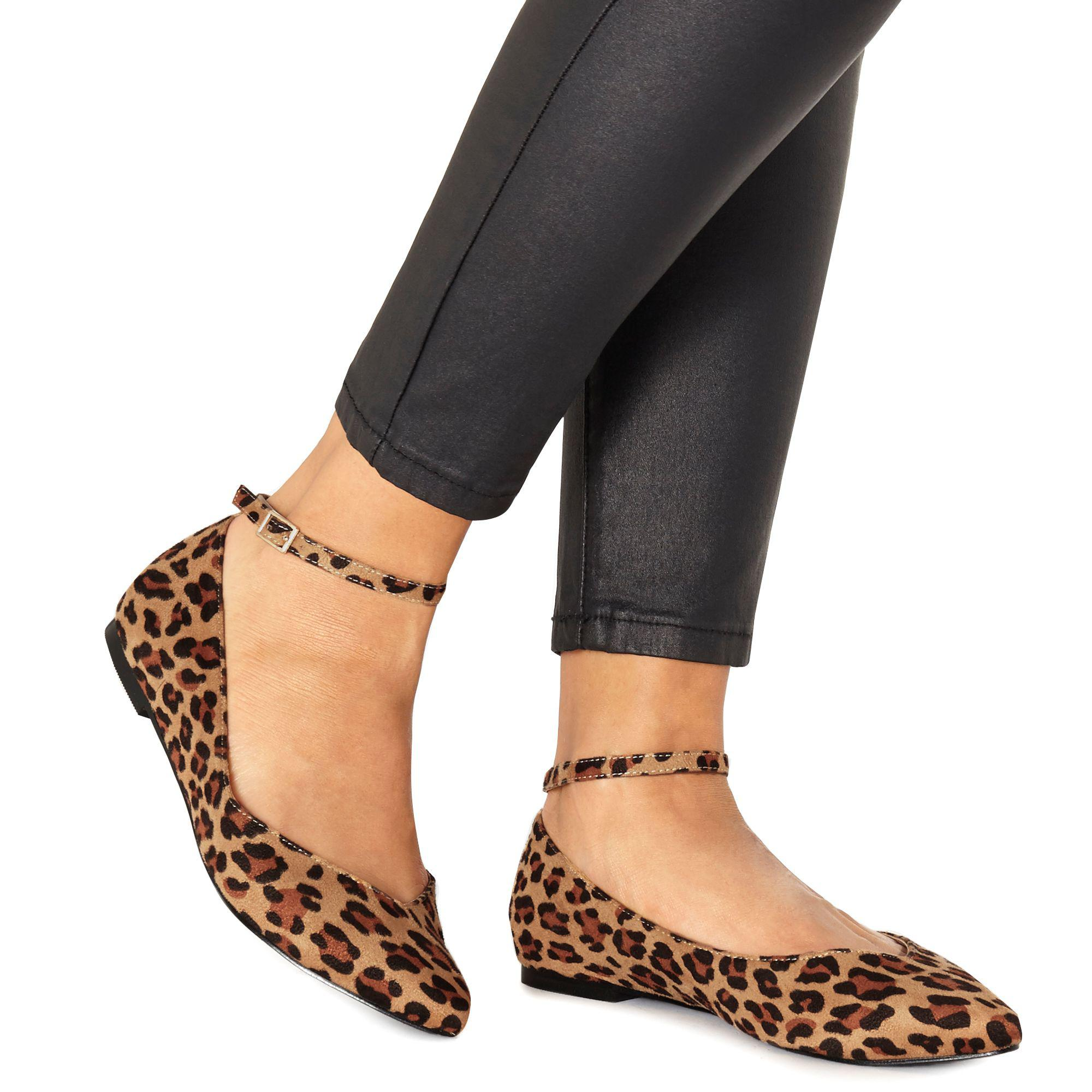 size 40 laest technology large discount Faith Multicolor Leopard Print 'ally' Pointed Wide Fit Shoes