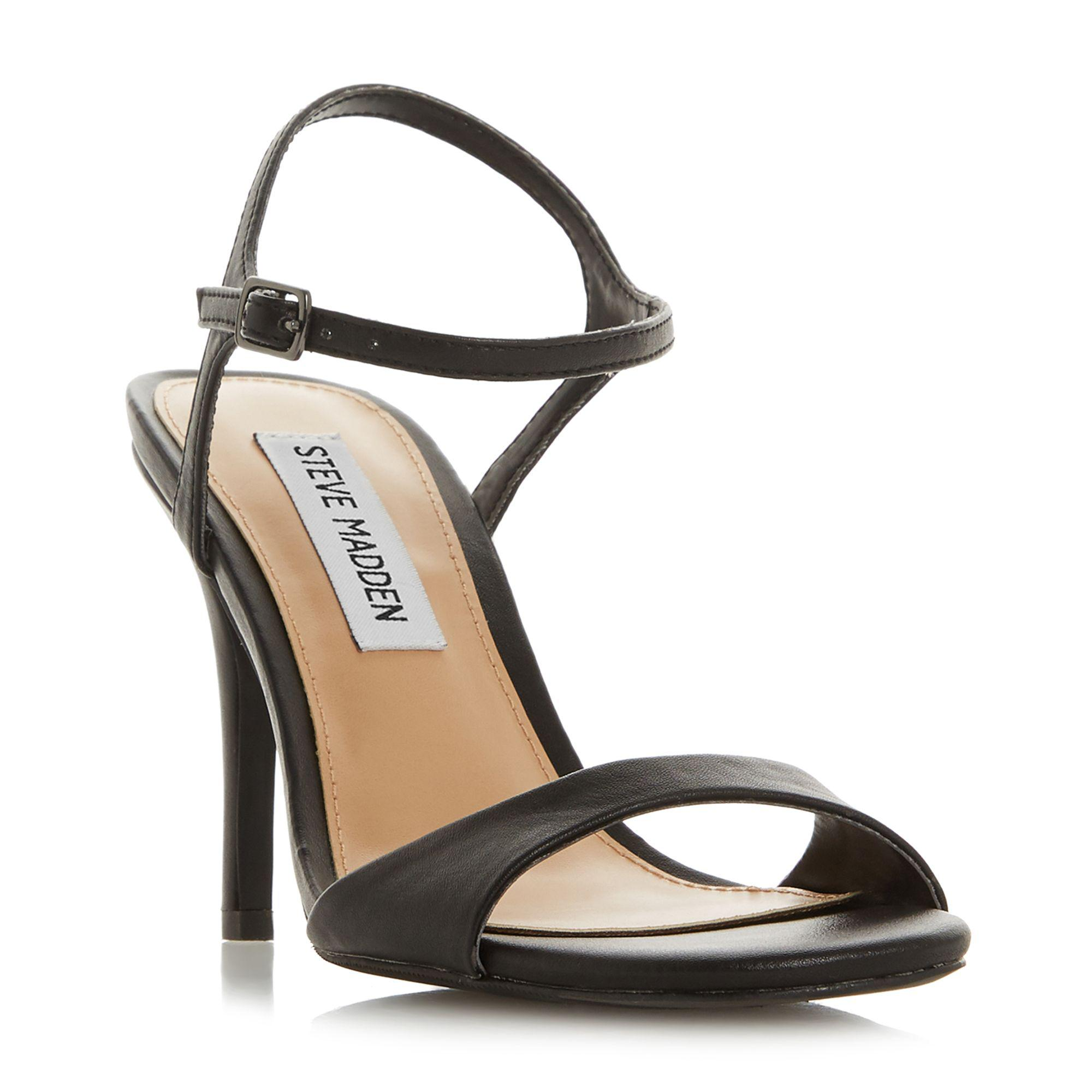 a07164178750 Steve Madden - Black Suede  faith High Stiletto Heel Ankle Strap Sandals -  Lyst. View fullscreen