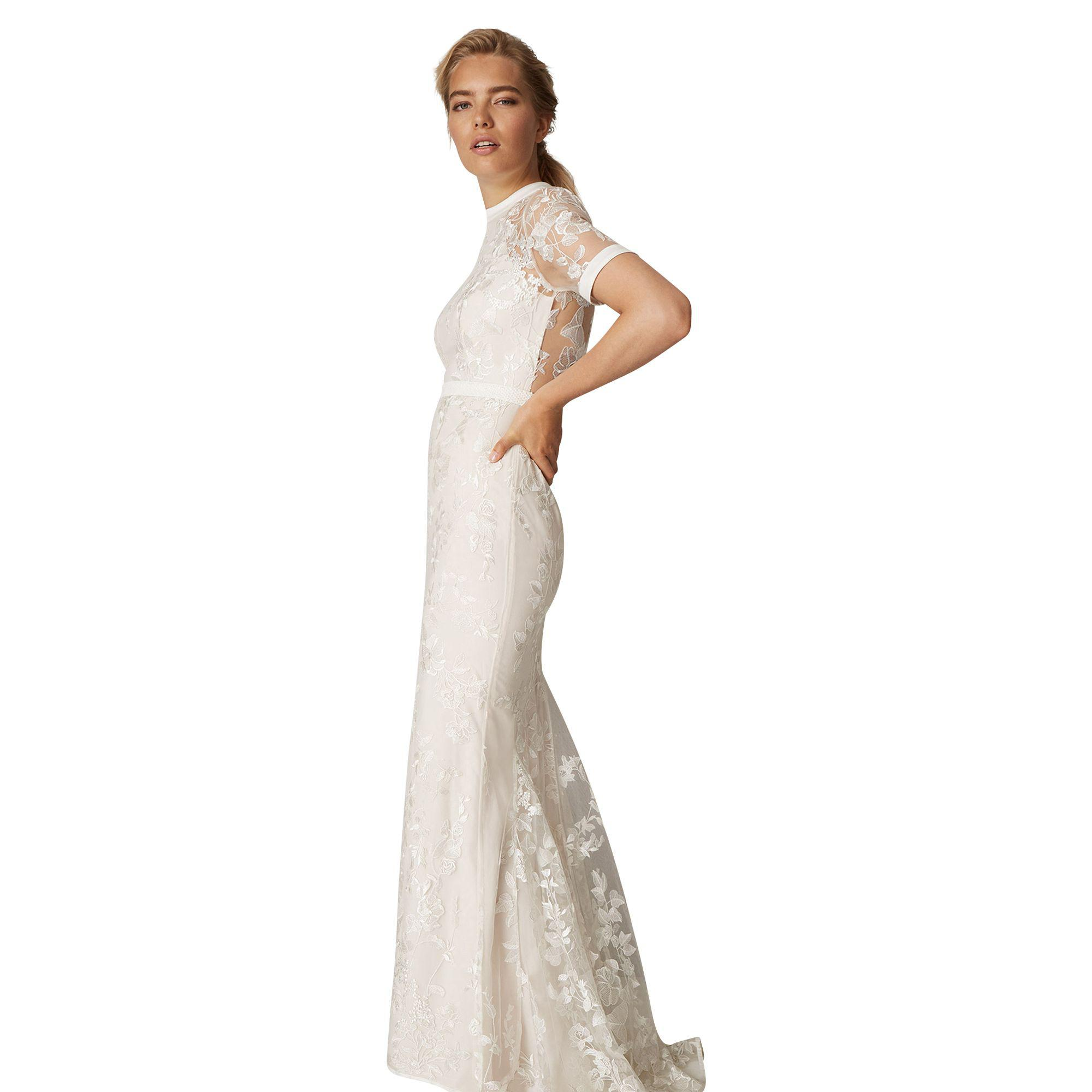 c7213e397bf76 Phase Eight Natural Poppy Embroidered Bridal Dress in Natural - Lyst