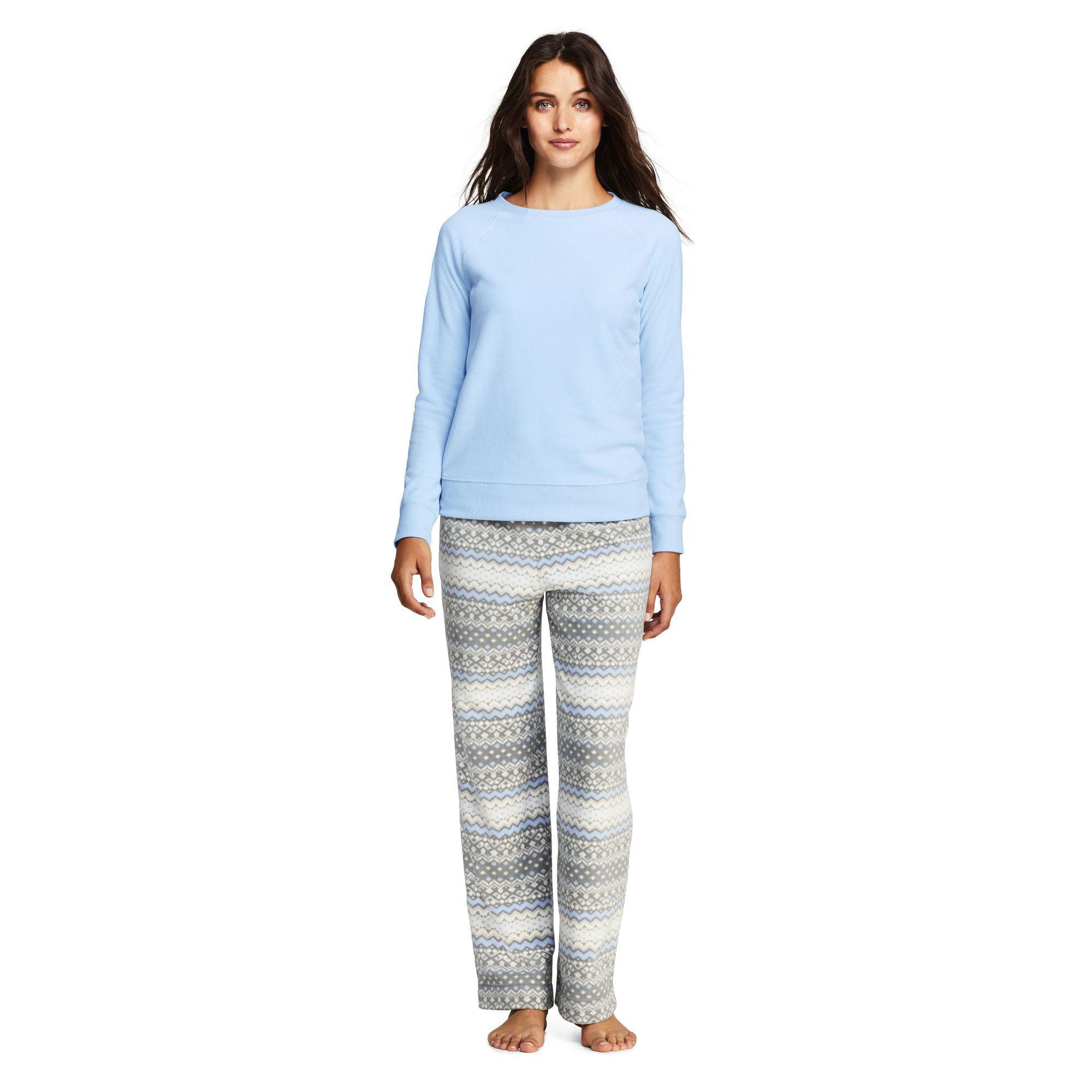 e84cdf0a37 Lands  End Multi Petite Fleece Pyjama Set in Blue - Lyst