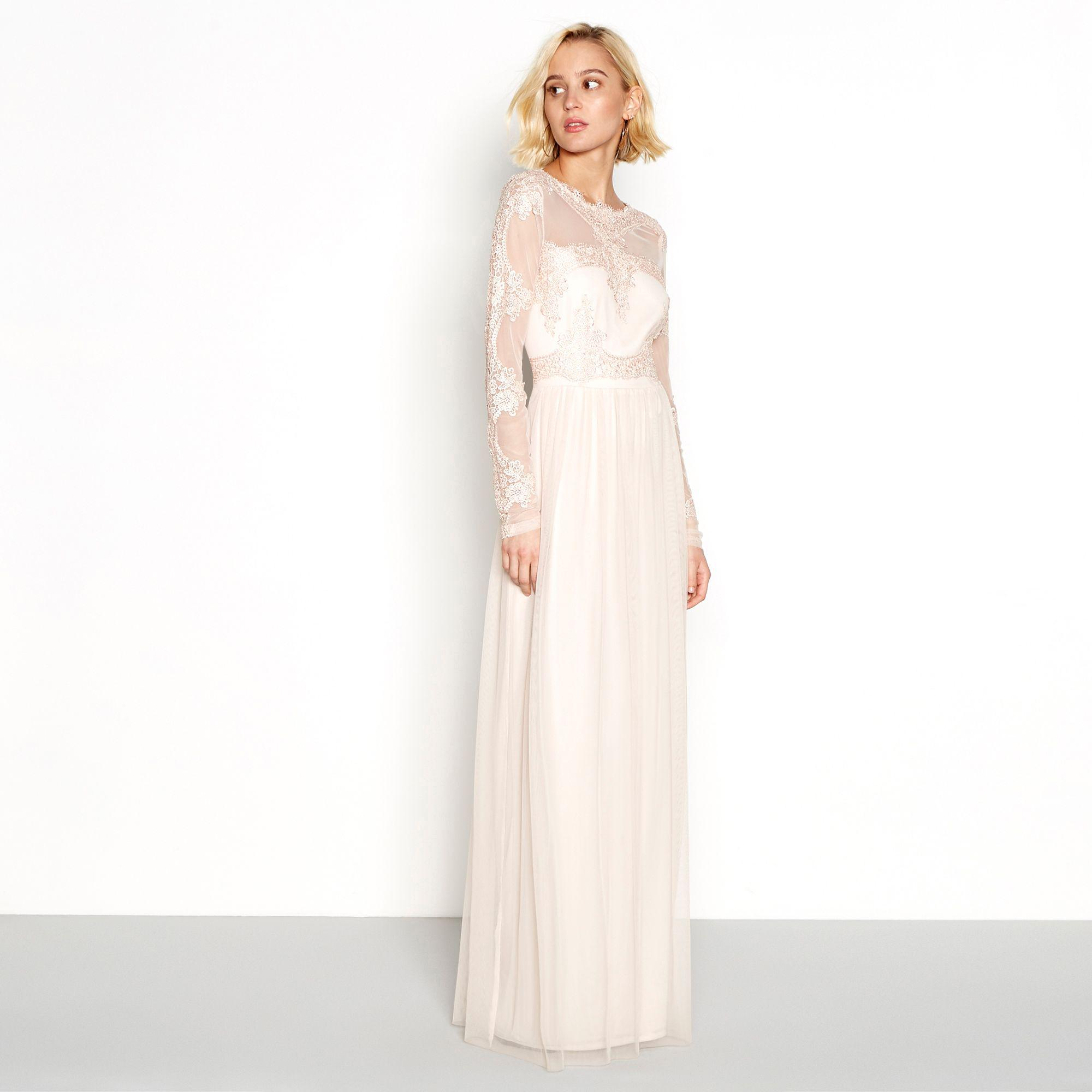 5fd4c6d31b5 Vila Pink Embroidered  vigeorgious  Maxi Dress in Pink - Lyst