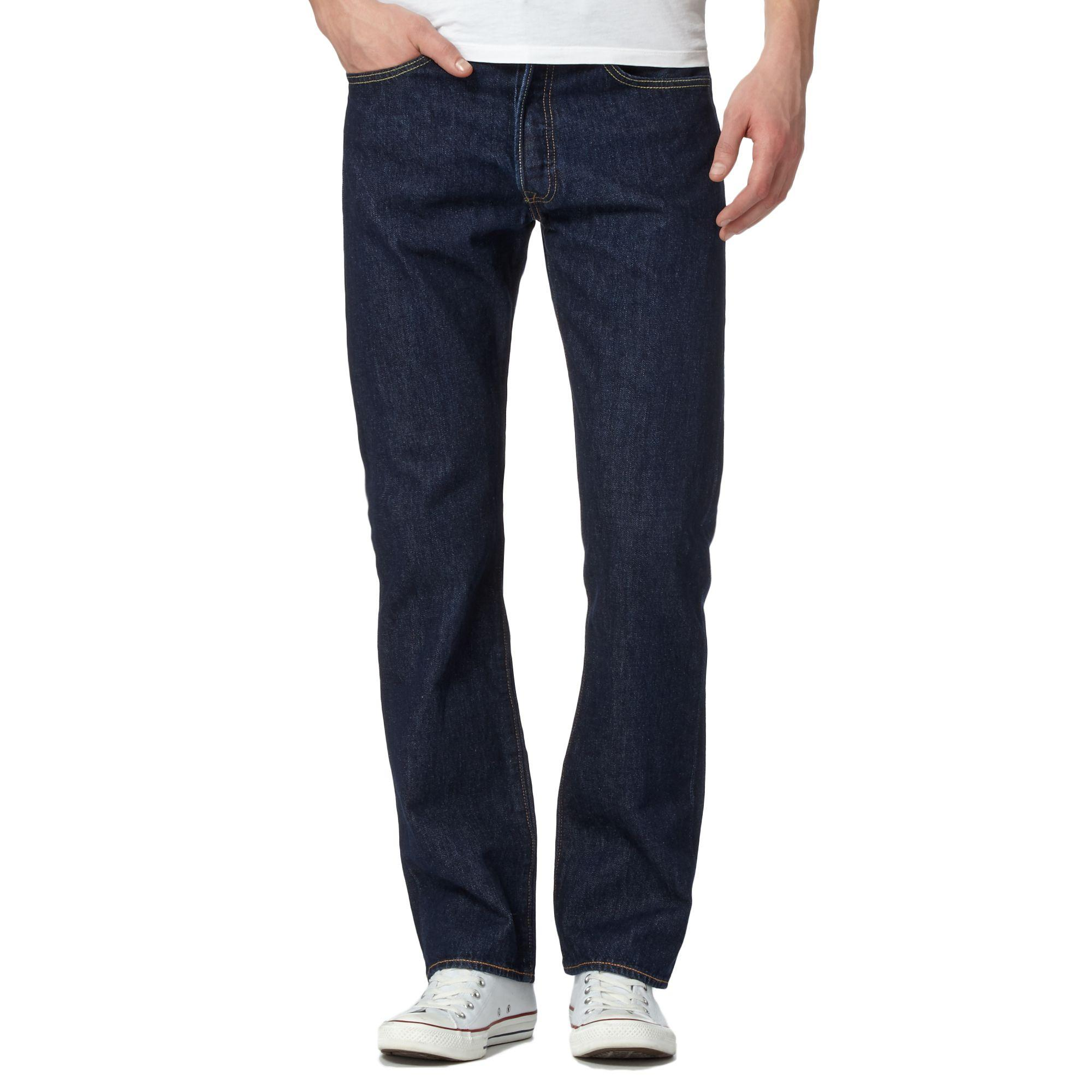 32f0430d9bc ... Levi's - Big And Tall Dark Blue One Wash '501' Straight Jeans for Men.  Visit Debenhams. Tap to visit site