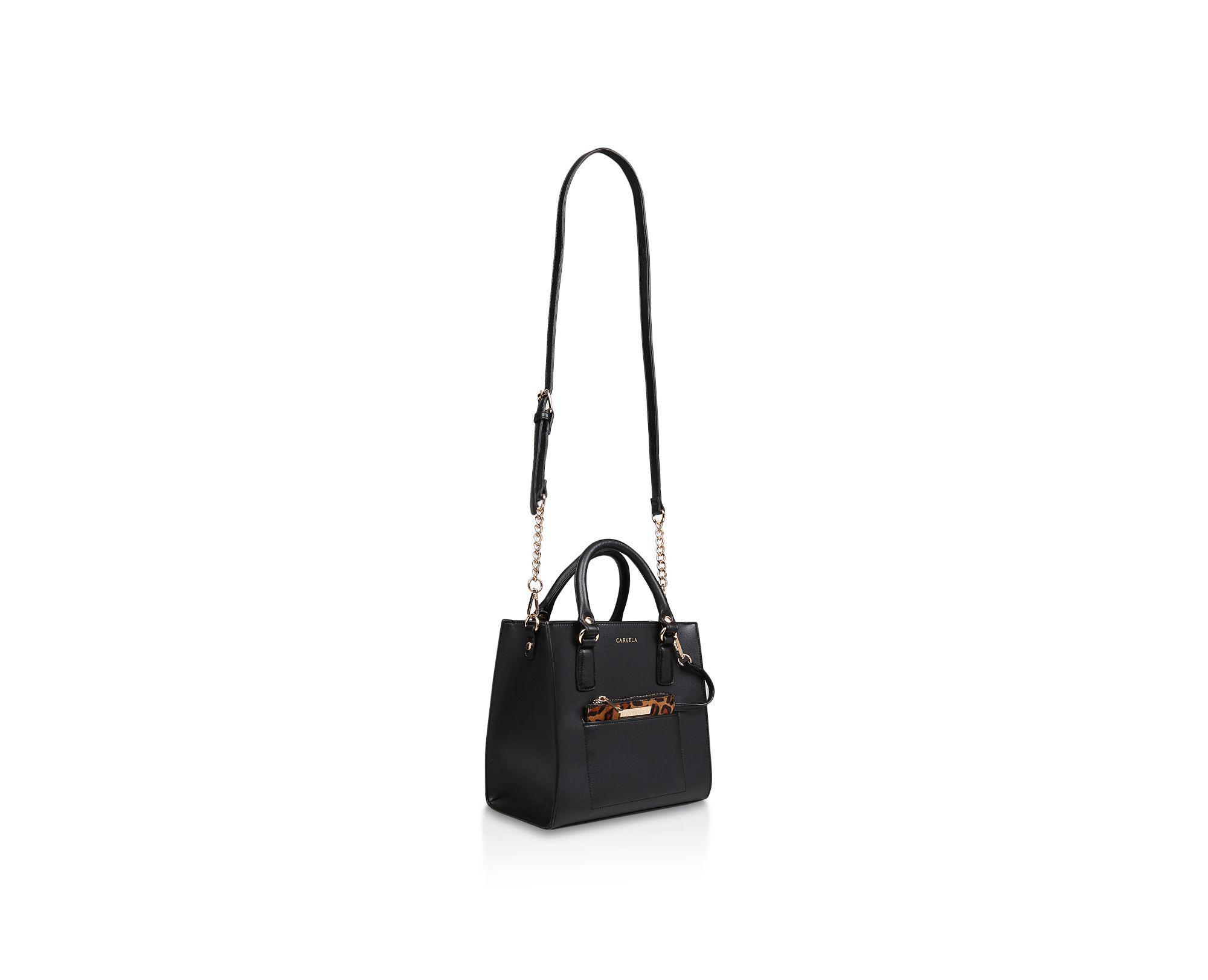 Carvela Kurt Geiger Black  simba Pocket Purse Tote  Tote Bag With ... 05077f7073