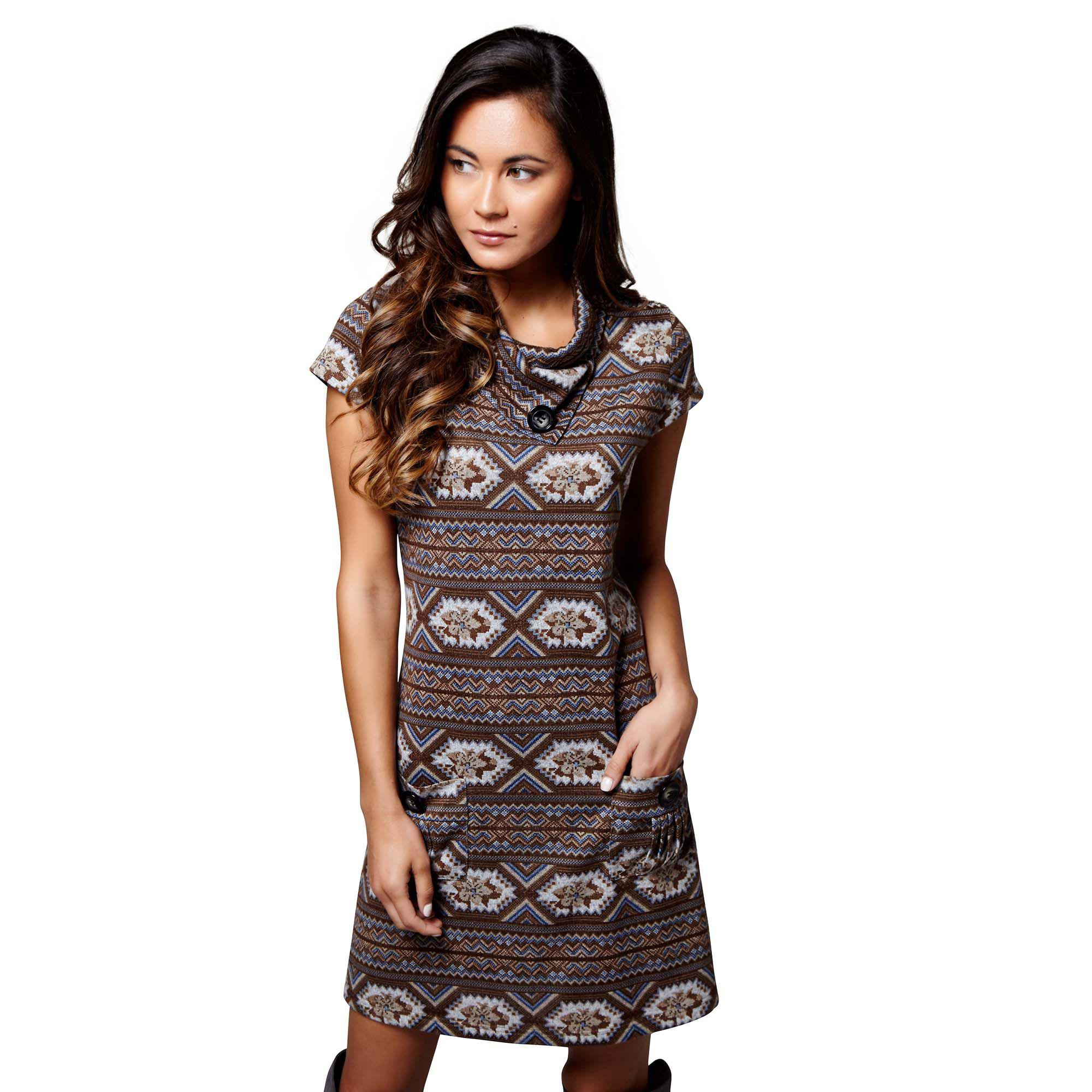 Mela Brown Aztec Pattern  mahi  Mini Tunic Dress in Brown - Lyst ef214c849