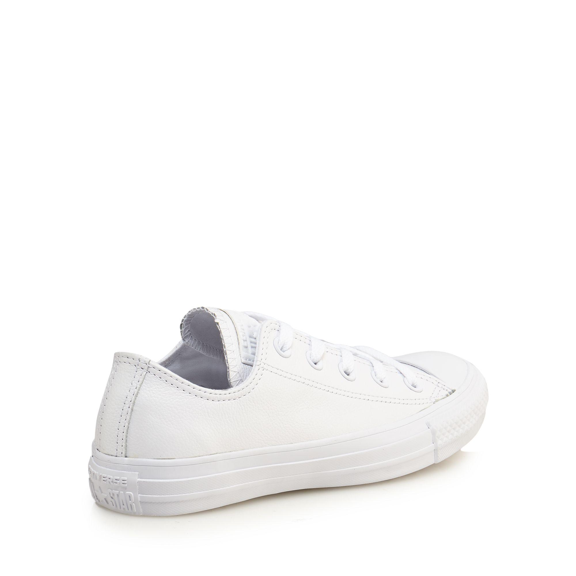 0f25e5054163 Converse White Leather  chuck Taylor All Star  Lace Up Trainers in ...