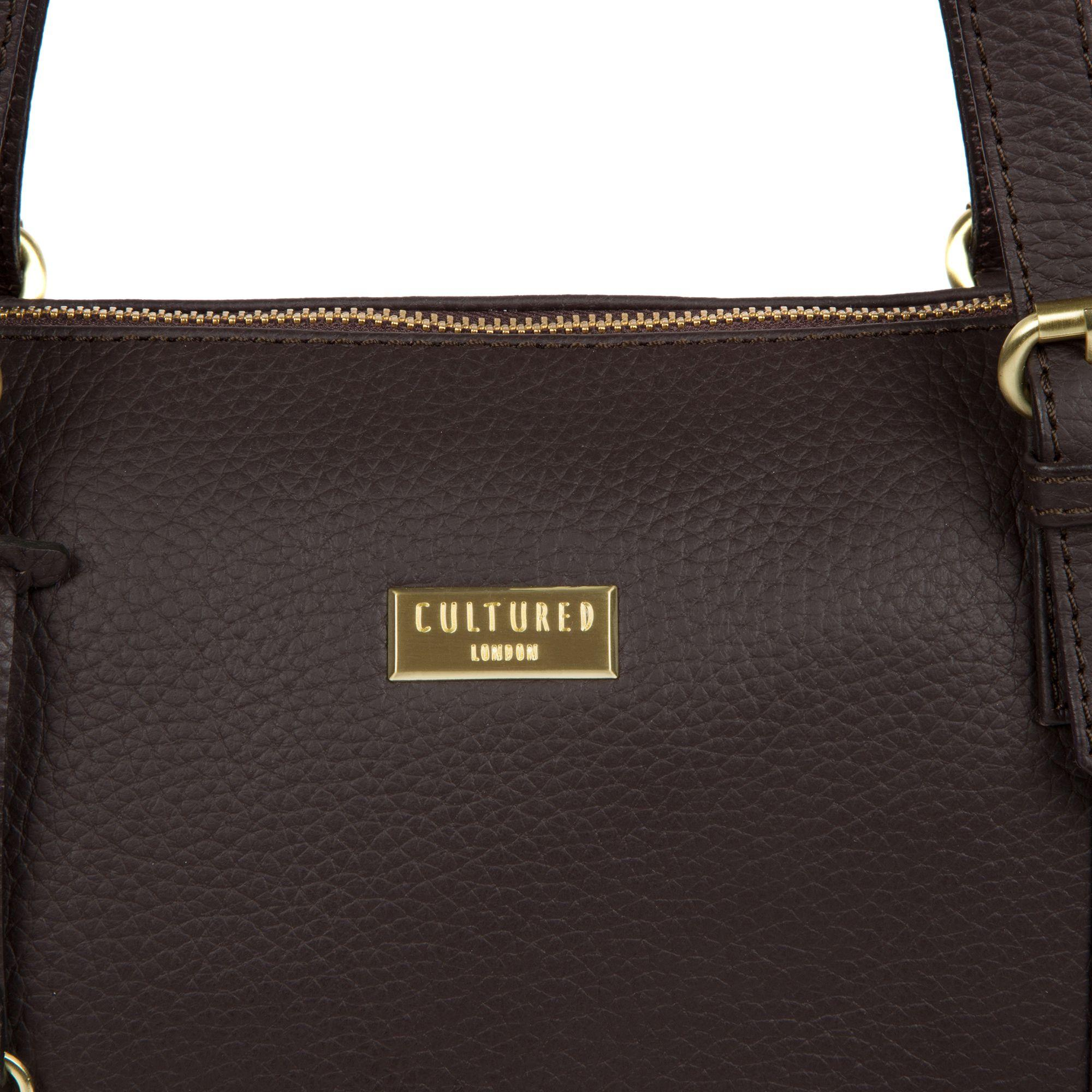 fc7cf9c999ae Cultured london dark chocolate pippa leather tote bag in brown lyst jpg  2000x2000 Pippa totes