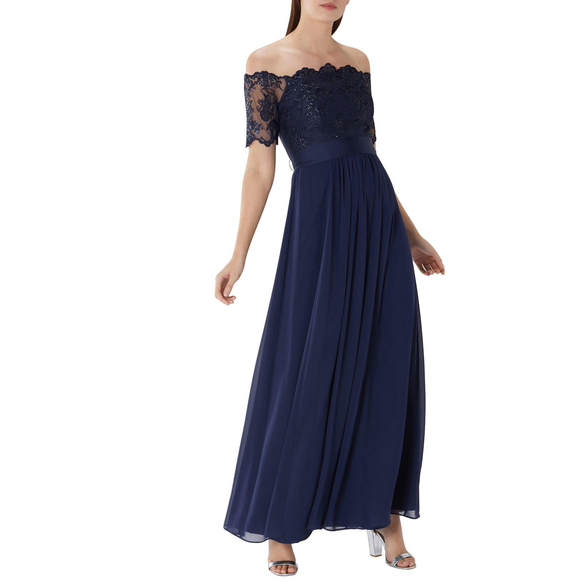 ef1d6871192d Coast Navy  maddie  Lace Bardot Maxi Dress in Blue - Save 79% - Lyst