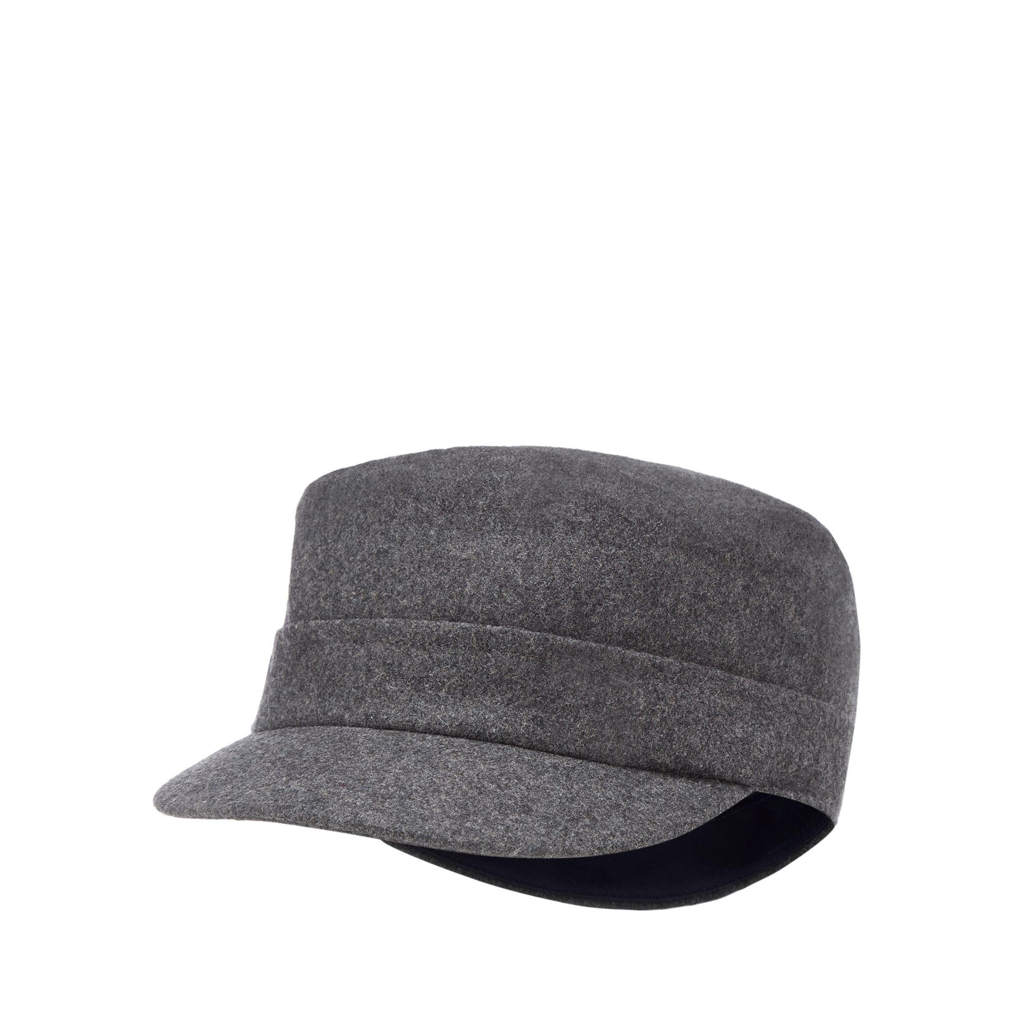 J By Jasper Conran Grey Train Driver Hat With Wool in Gray for Men ... d903f4826951