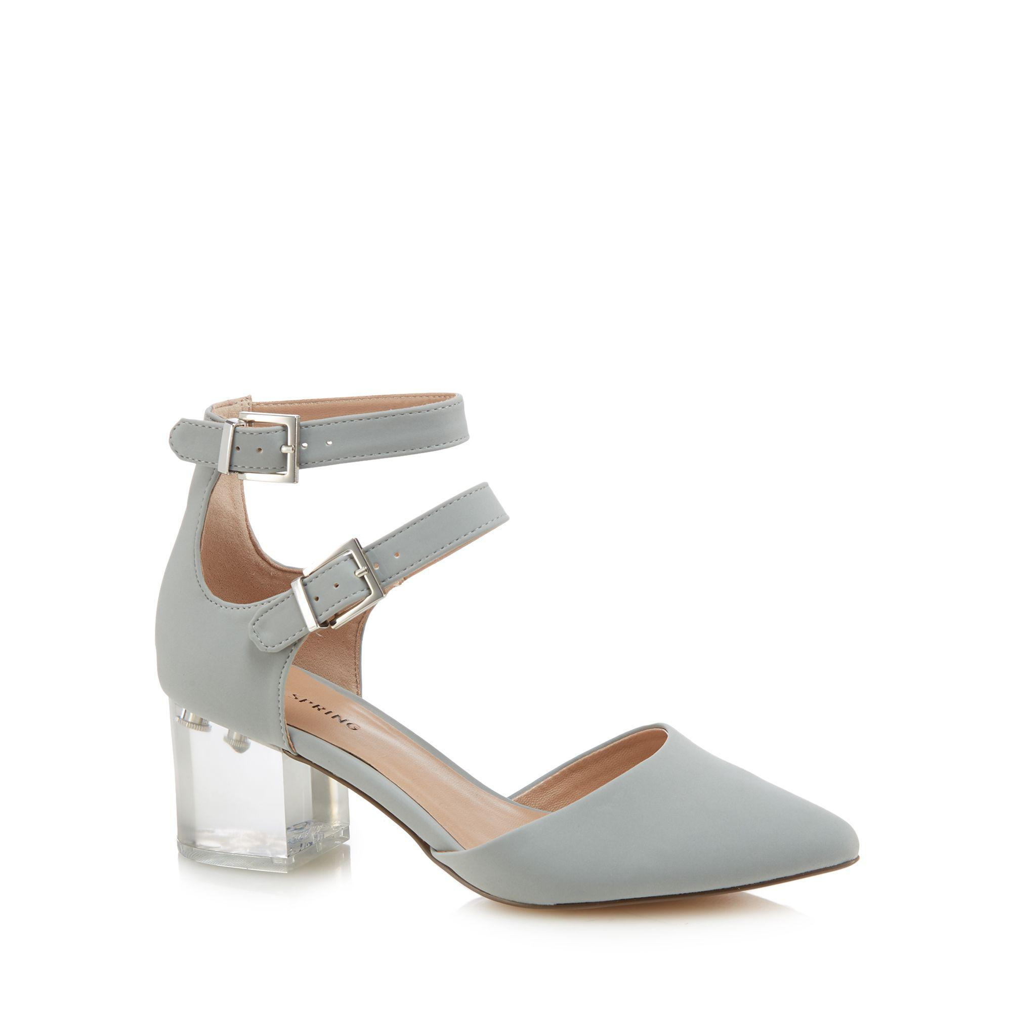 outlet shopping online sale 2014 new Pale blue 'Larerawiel' mid block heel pointed shoes free shipping best seller nTEUw