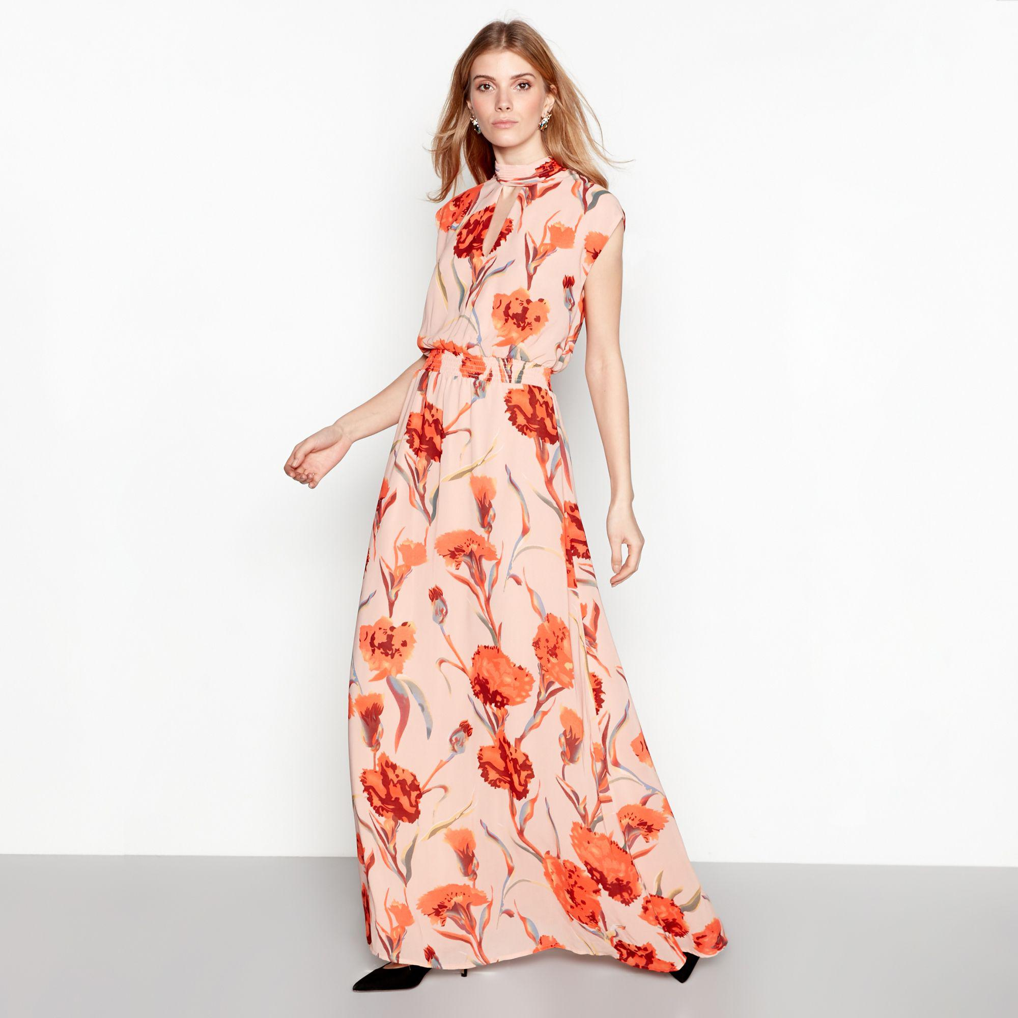 50a1b2c446 Y.A.S Rose Floral Print Sleeveless High Neck Maxi Dress in Pink - Lyst