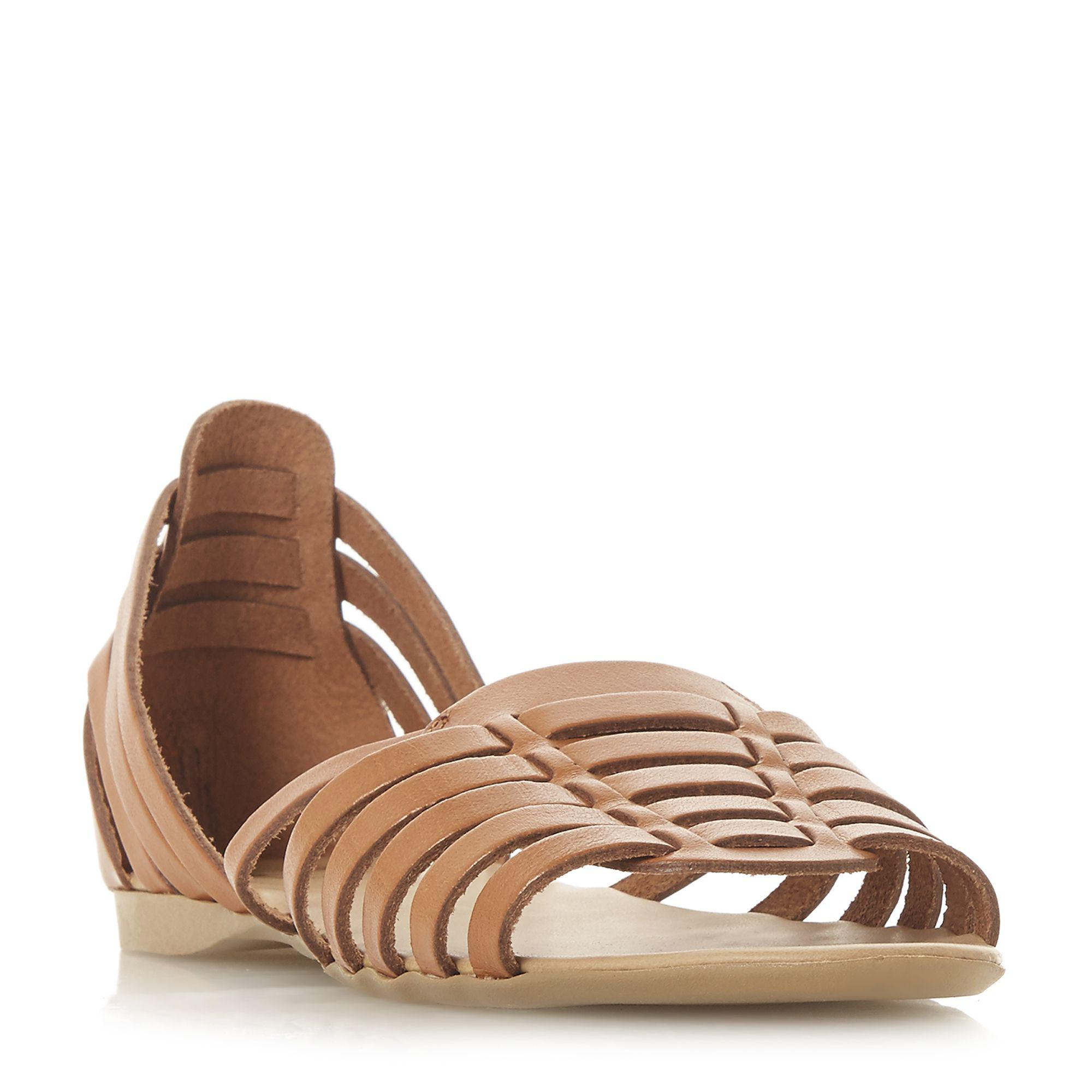 b77c4abd0ae3 Dune Gili Multiple Strap Closed Back Sandals in Brown - Lyst