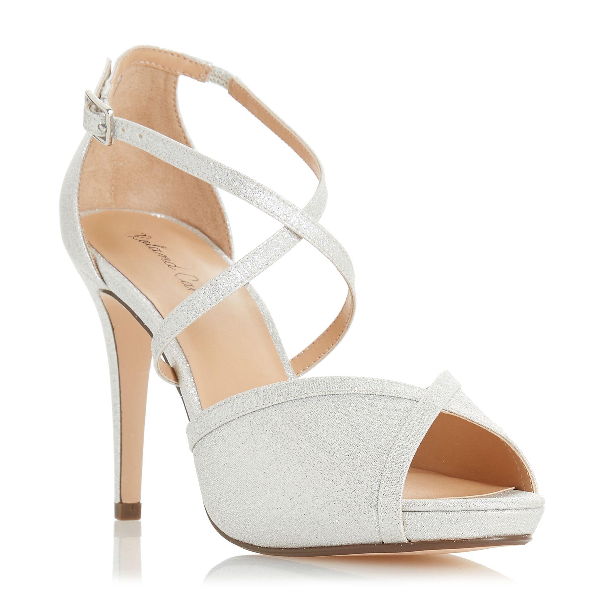 bd7d9e75537 Roland Cartier - Metallic Silver  minnie  High Stiletto Heel Peep Toe  Sandals - Lyst. View fullscreen