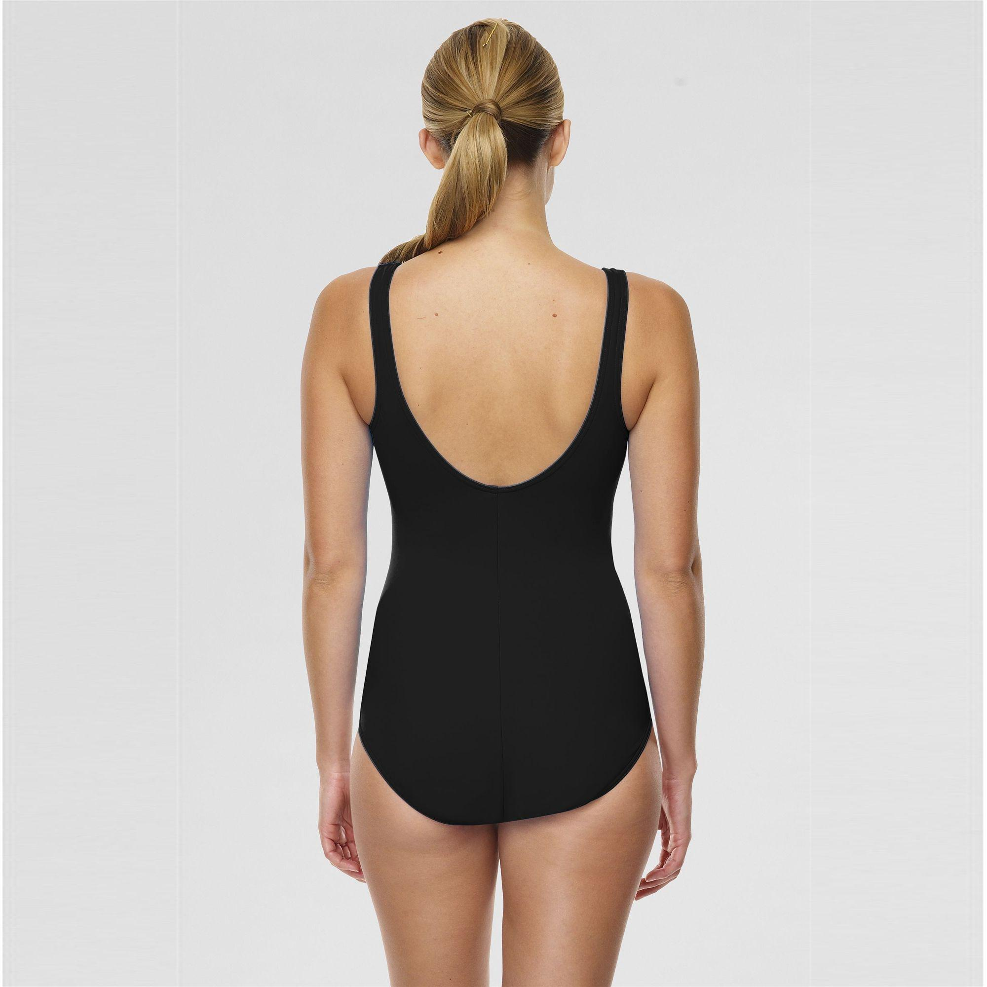 b3dc69f3309f0 Lands  End - Black Tugless Swimsuit With Soft Cup Bra - Lyst. View  fullscreen
