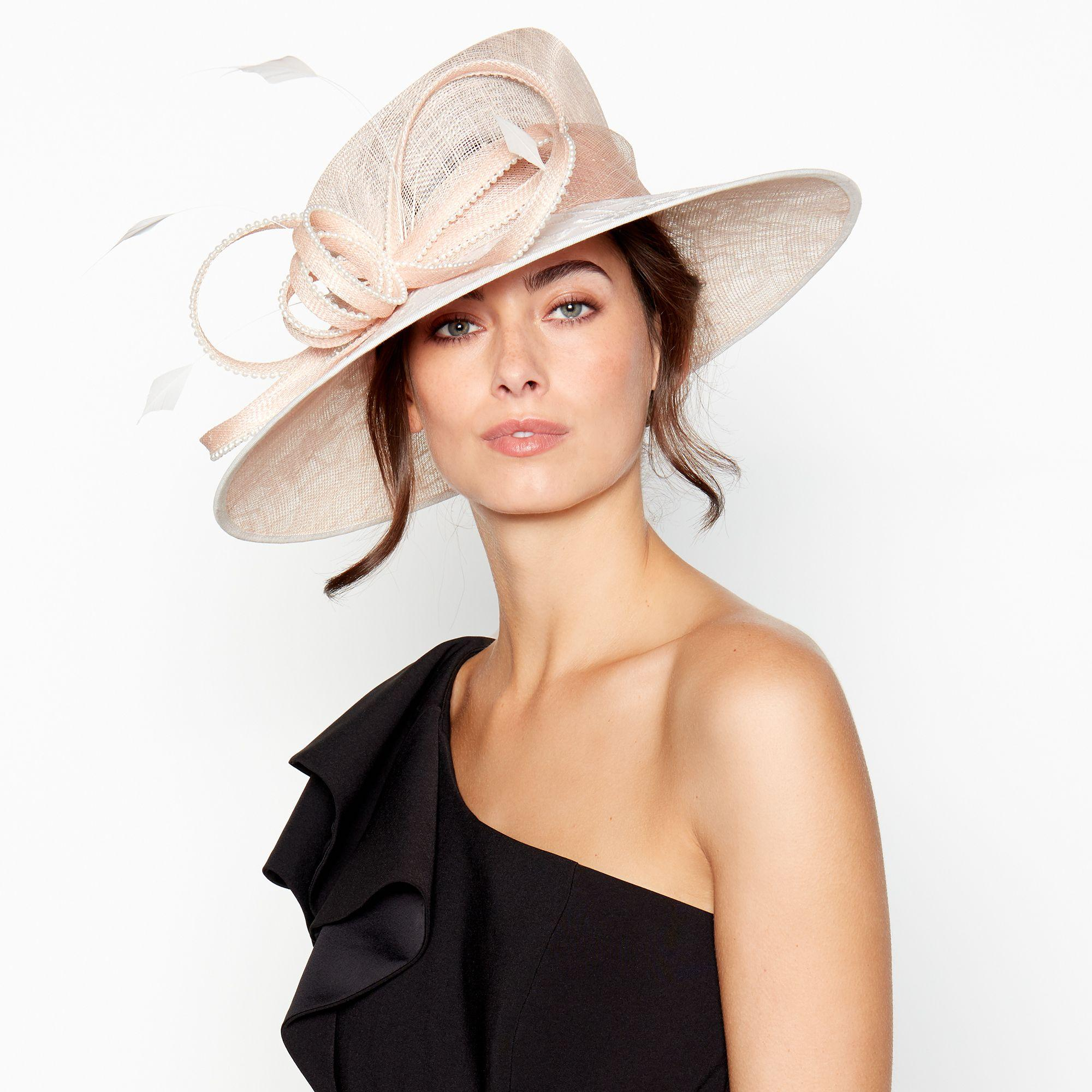 05895a900814 Début Pink Beaded Embroidered Loop Brim Hat in Pink - Lyst