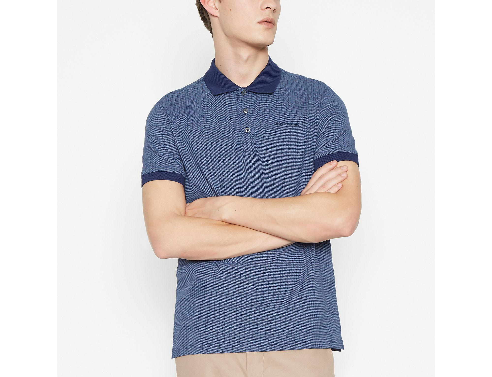 a71783275 Ben Sherman Blue Cotton Polo Shirt in Blue for Men - Lyst