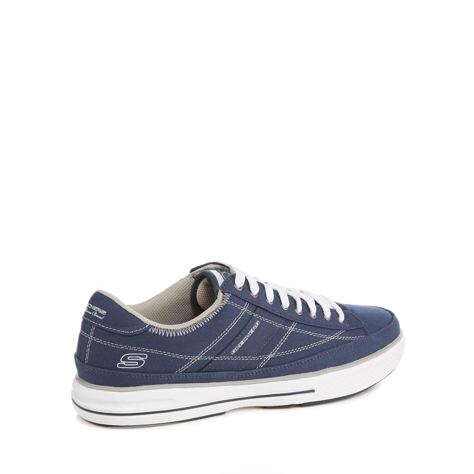 9863d2c1ad7e Skechers Navy Canvas  arcade Chat  Trainers in Blue for Men - Save ...