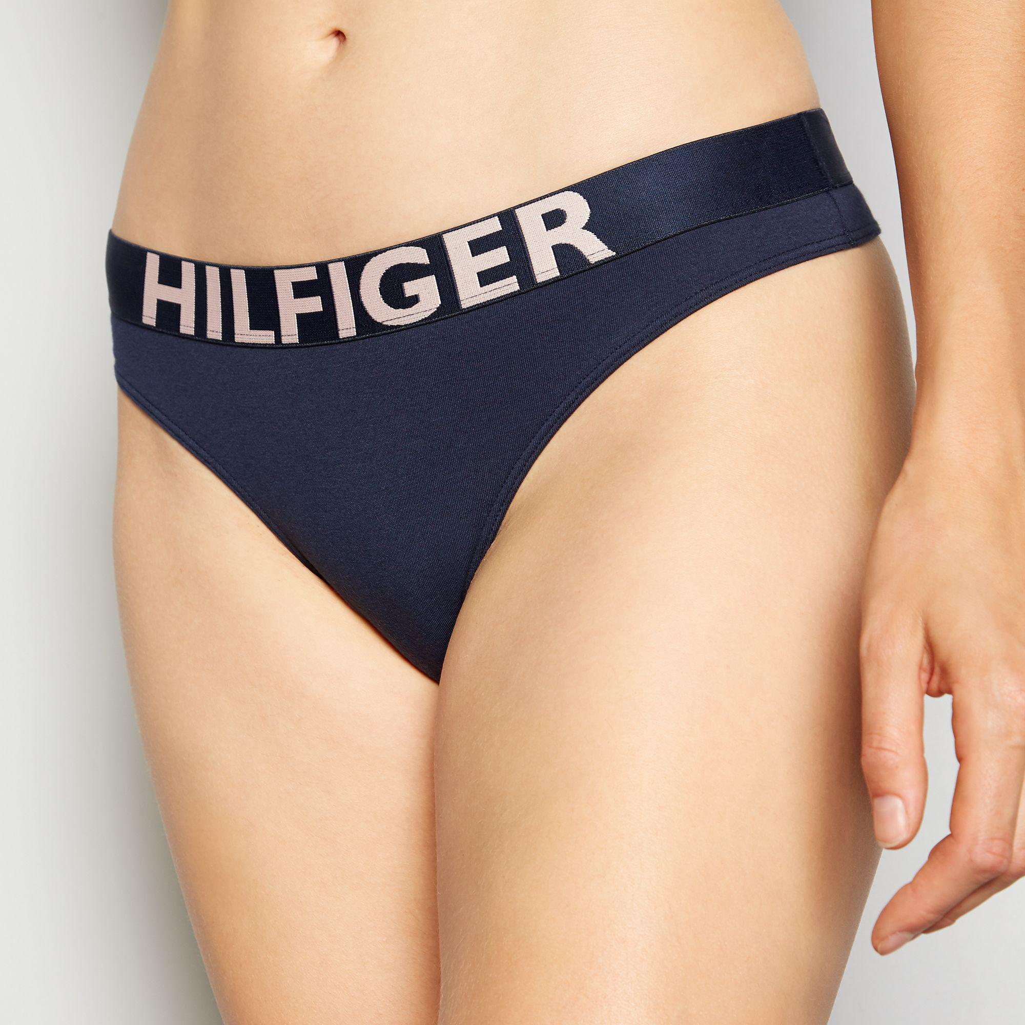 a08e149740 Tommy Hilfiger Navy  bold  Cotton Thong in Blue - Lyst