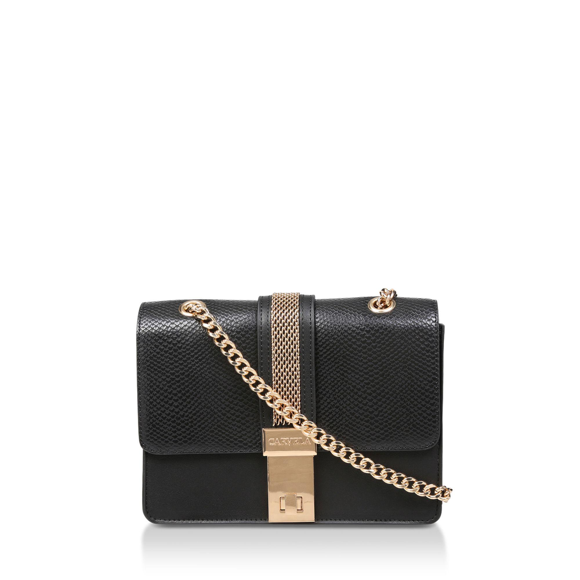 Carvela Kurt Geiger. Women s Black  casey Chain Xbody Bag  Snake Print Cross  Body Bag d55791176b9a5