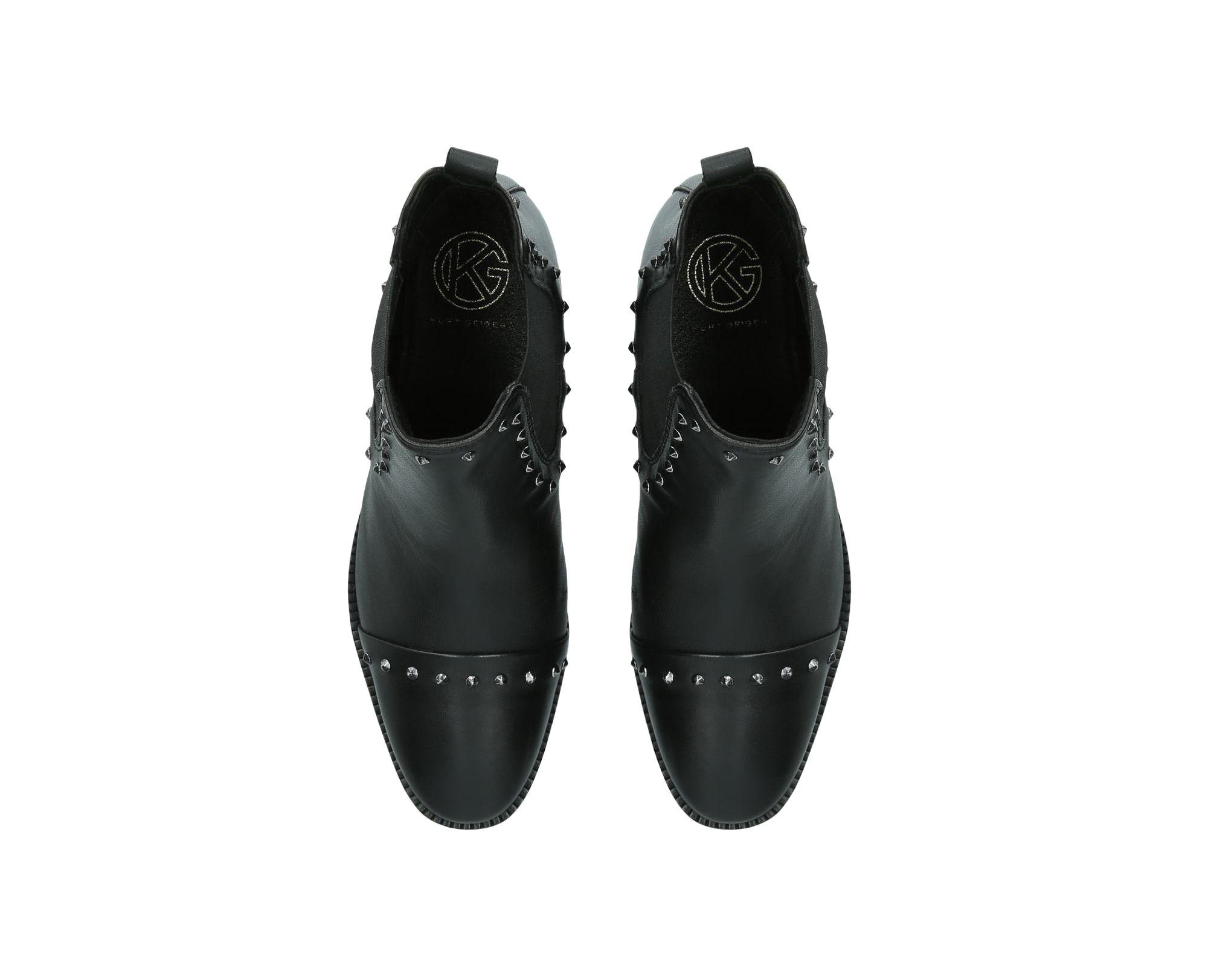 d997f2b2acdb KG by Kurt Geiger Black 'tony' Studded Leather Ankle Boots in Black ...