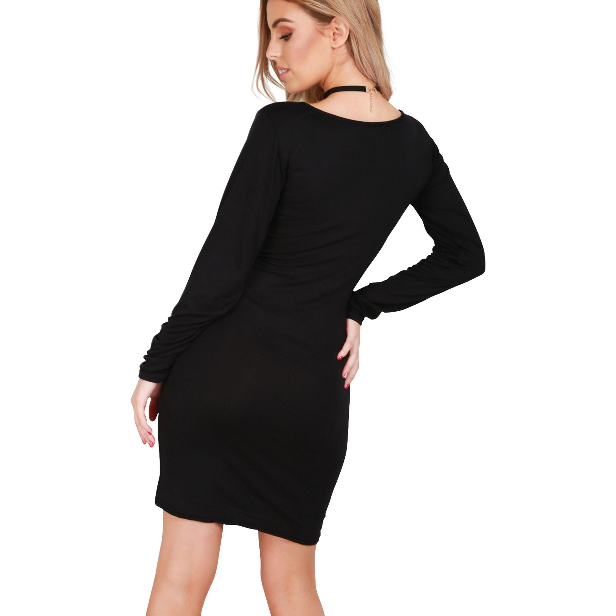 Be Jealous Black Mummy s Christmas Pudding Bodycon Dress in Black - Lyst b3aa9609a