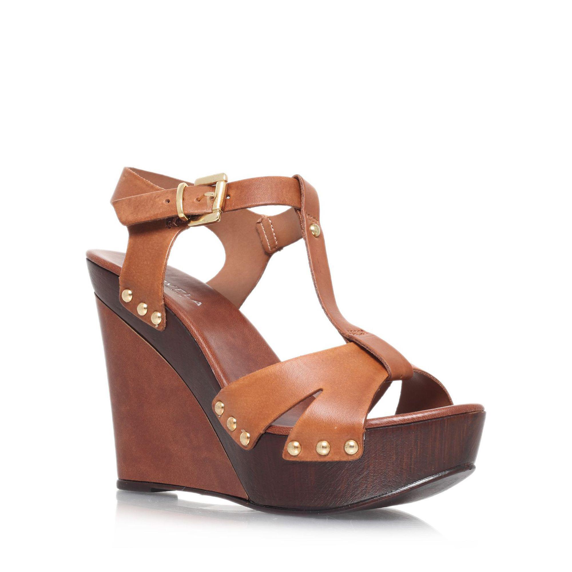 Carvela Klaus - tan high heel wedge sandals Outlet In China Free Shipping Eastbay Sast Online Nice Buy Cheap Best Seller svSSR7SIVt