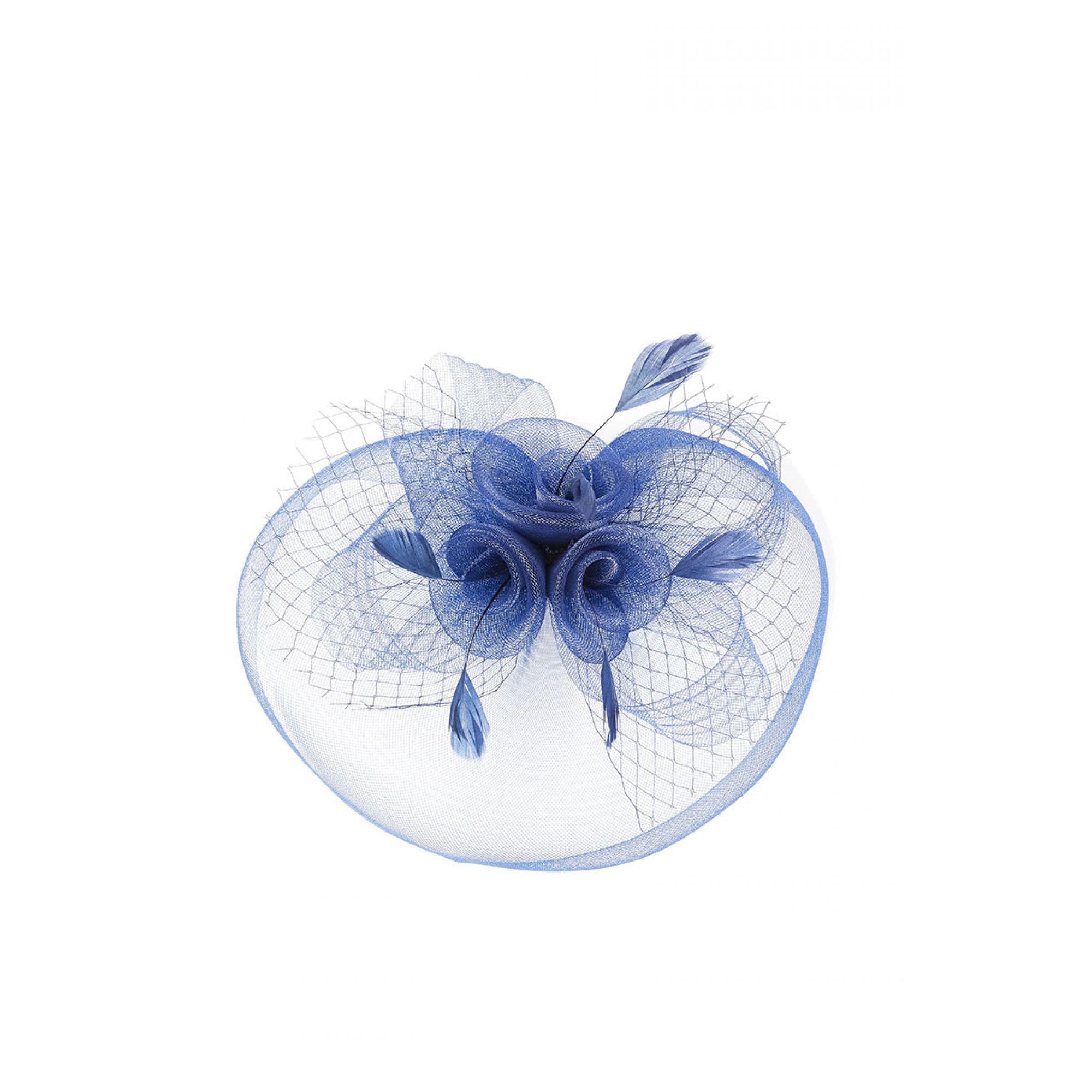 Quiz Navy Rose Large Net Fascinator in Blue - Lyst 6e5381b68f7