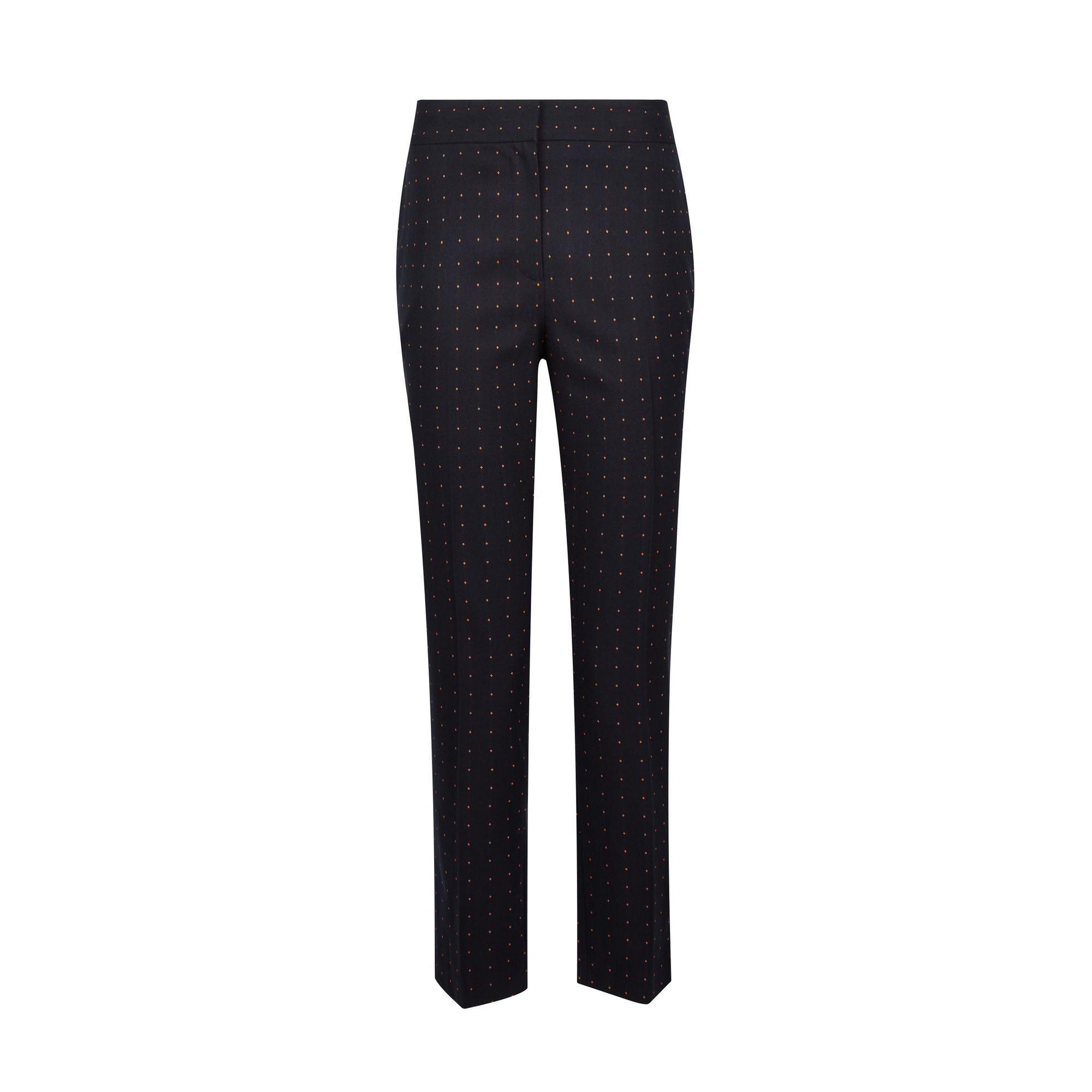 5c071aa5bdd9a Dorothy Perkins - Blue Spot Print Tailored Trousers - Lyst. View fullscreen