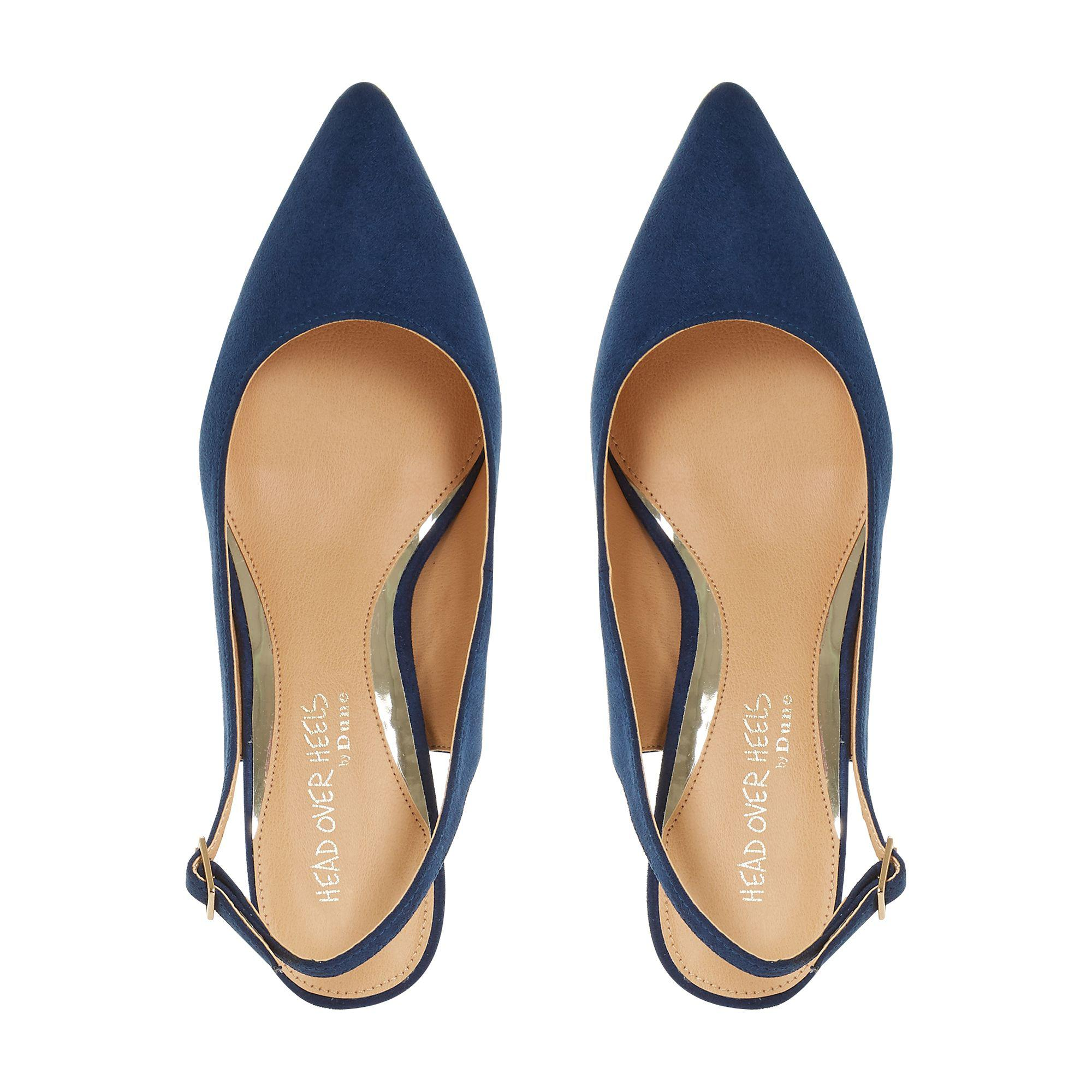 1d57ca54452 Dune Navy  corrin  Kitten Heel Court Shoes in Blue - Lyst