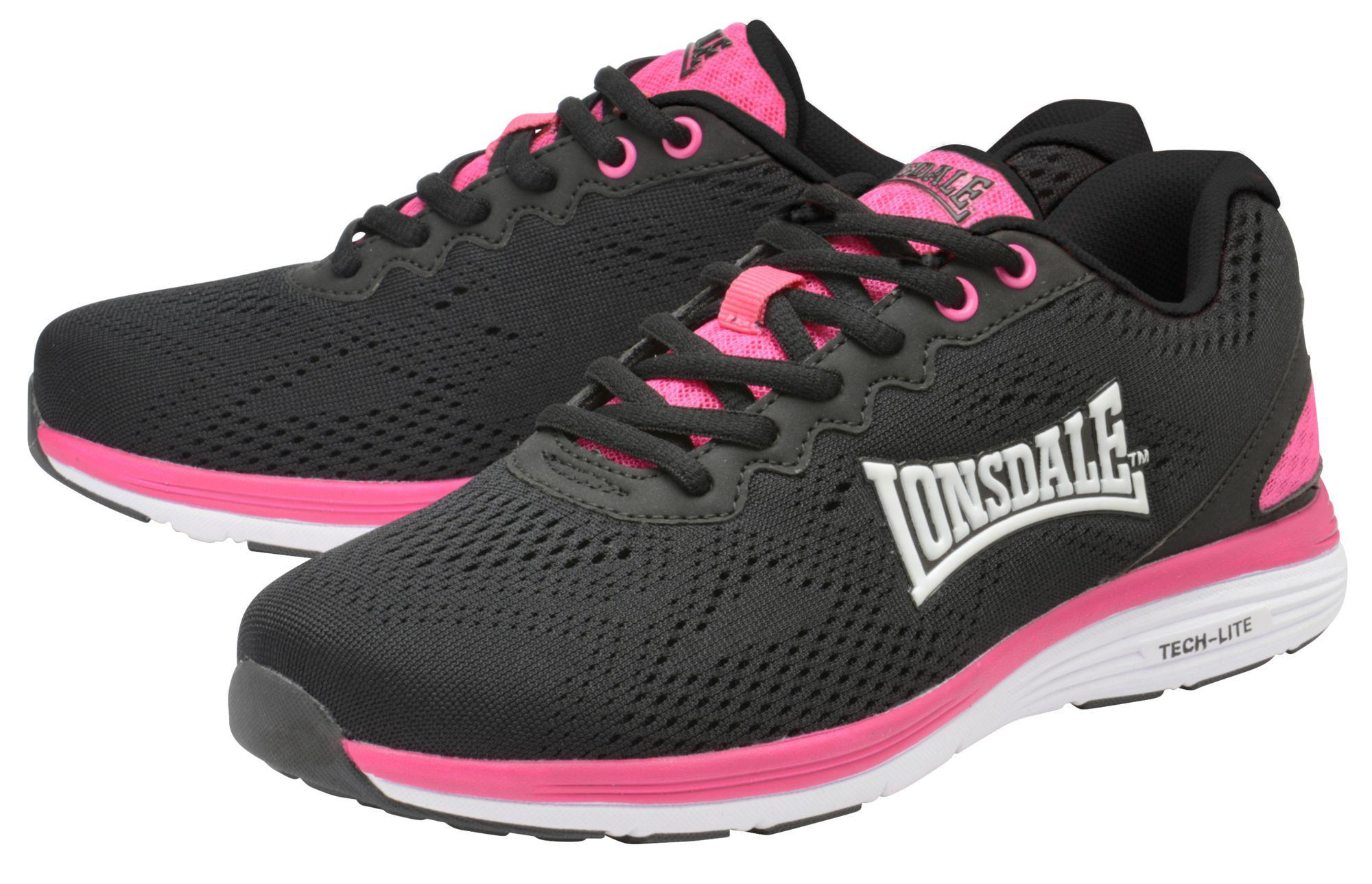 Black & fuchsia 'Lisala' ladies lace up trainers how much cheap online low price fee shipping low shipping cheap price buy cheap best place sale view 3SOwvKcvGO