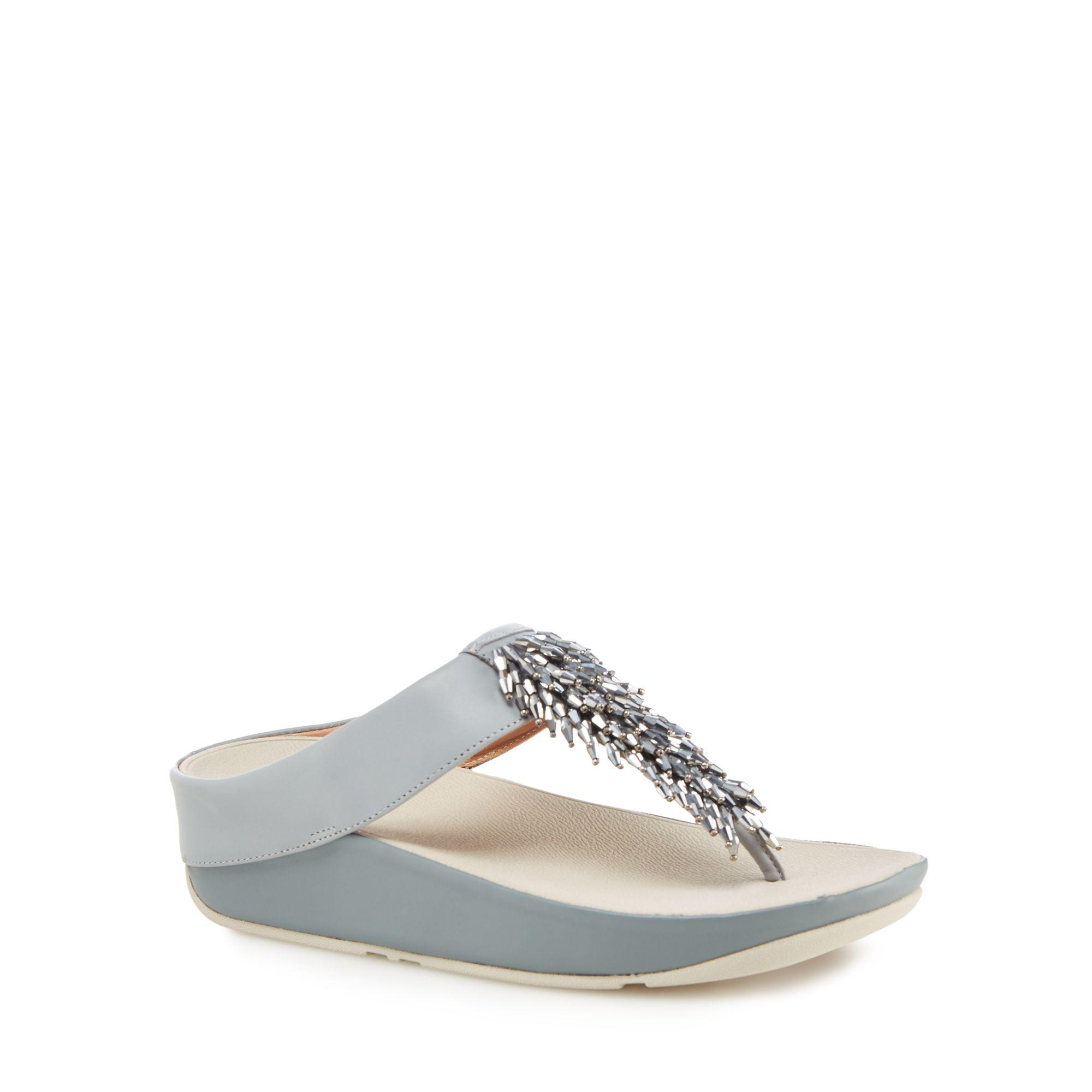 top quality cheap price Grey glitter 'Glitterball' mid flatform heel flip flops cheap authentic outlet 0UFPfrW74T