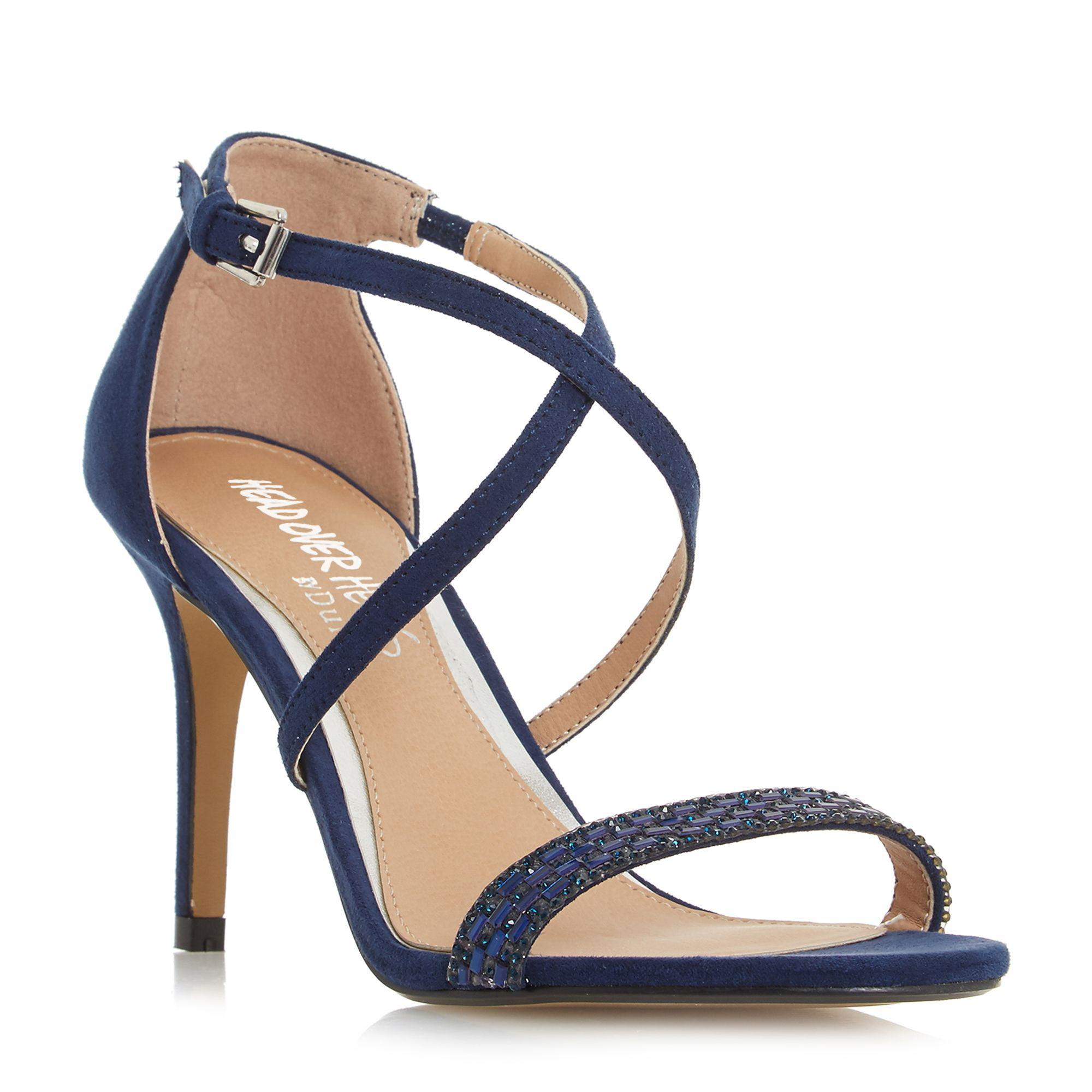 a72e9f9a82b8ad Dune Navy  missy  Ankle Strap Sandals in Blue - Lyst