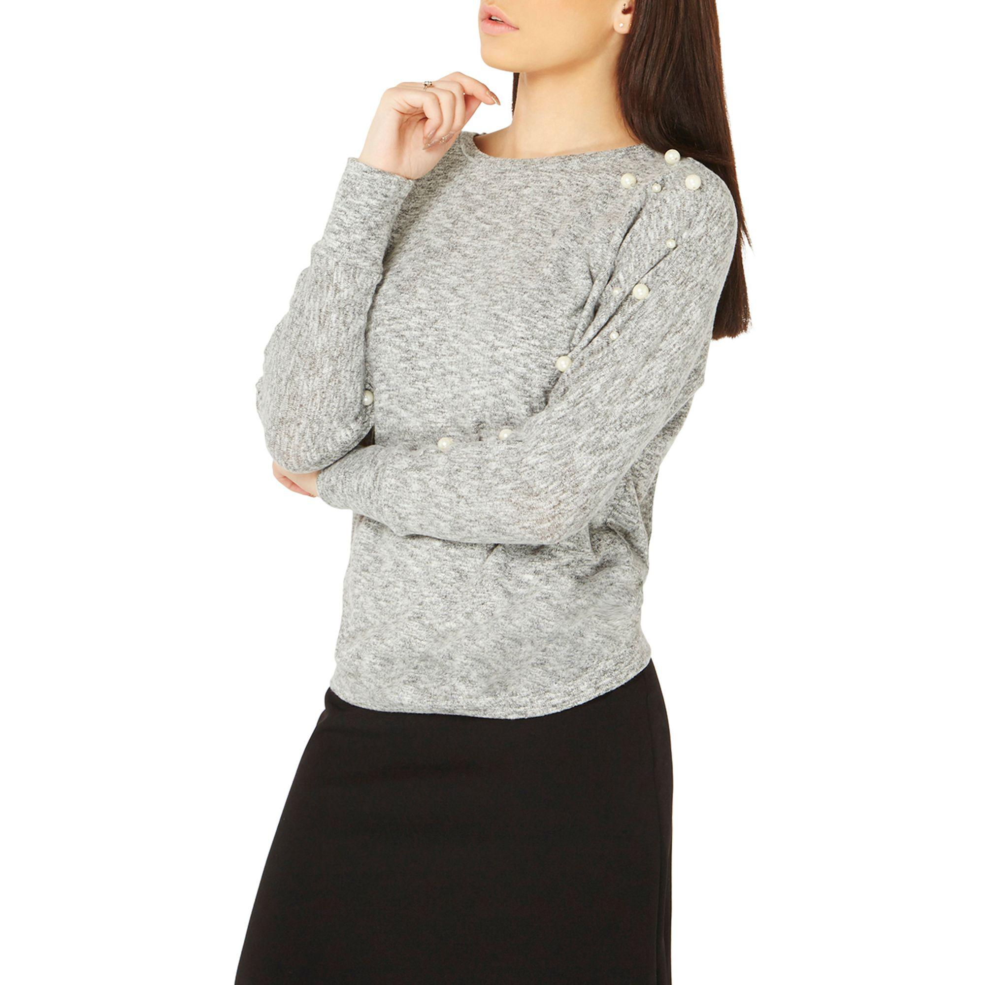 Discount Visit New Free Shipping Official Site Dorothy Perkins Womens Pearl Sleeve Sweat Top- Cheap Sale Factory Outlet Original Online Outlet 2018 UgYbGKn