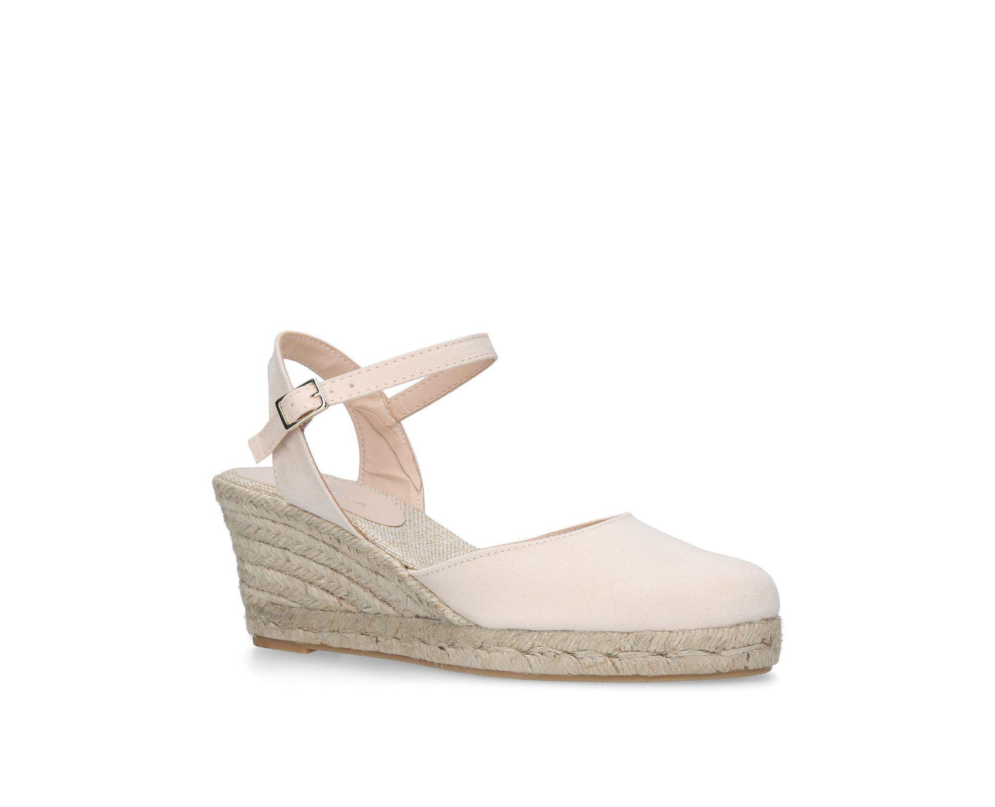 0ae33deb682 Carvela Kurt Geiger. Women s Natural Nude  sabrina 2  Mid Heel Wedge Sandals