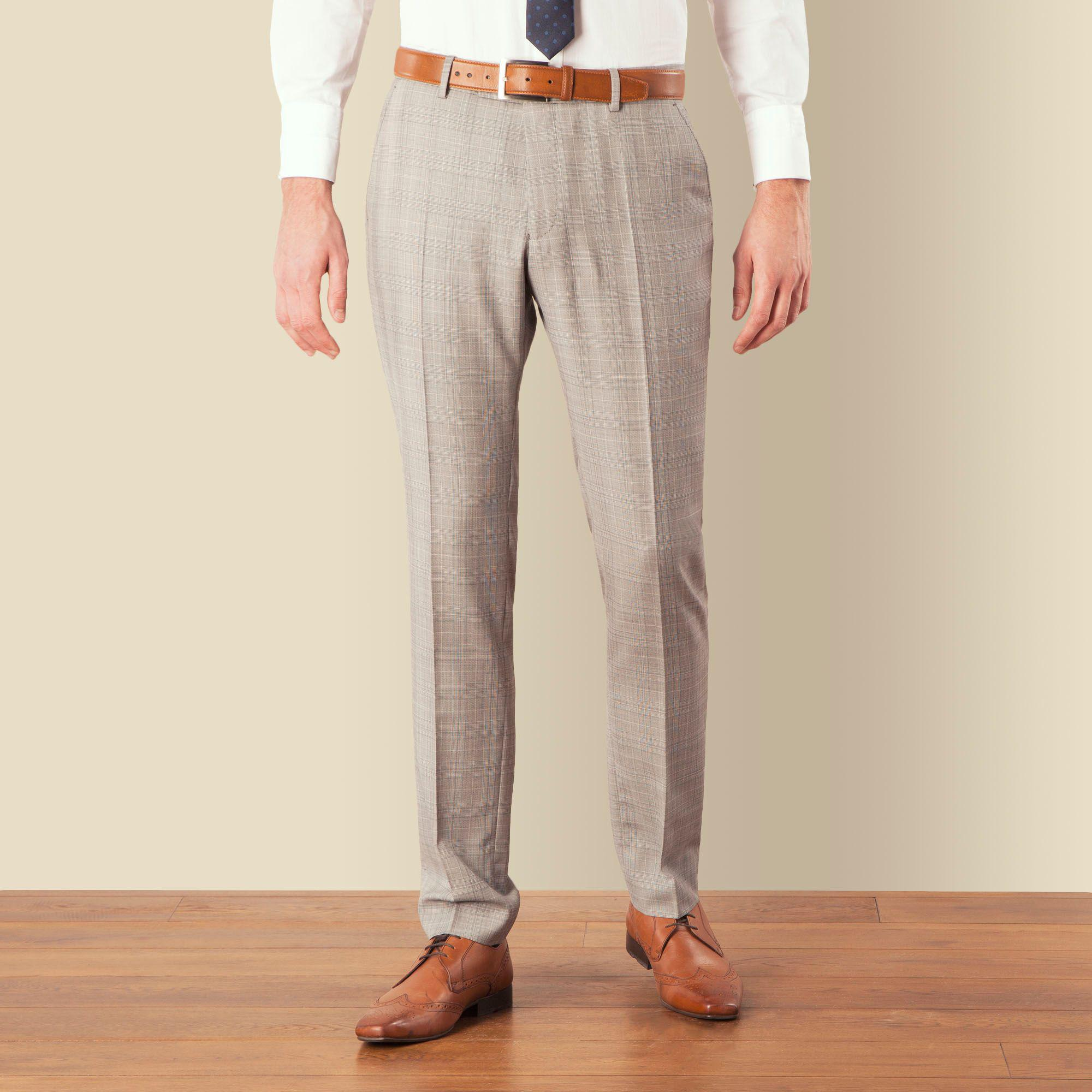 07d077b8ae7 Ben Sherman. Men s Gray Grey Blue Overcheck Skinny Camden Fit Suit Trouser